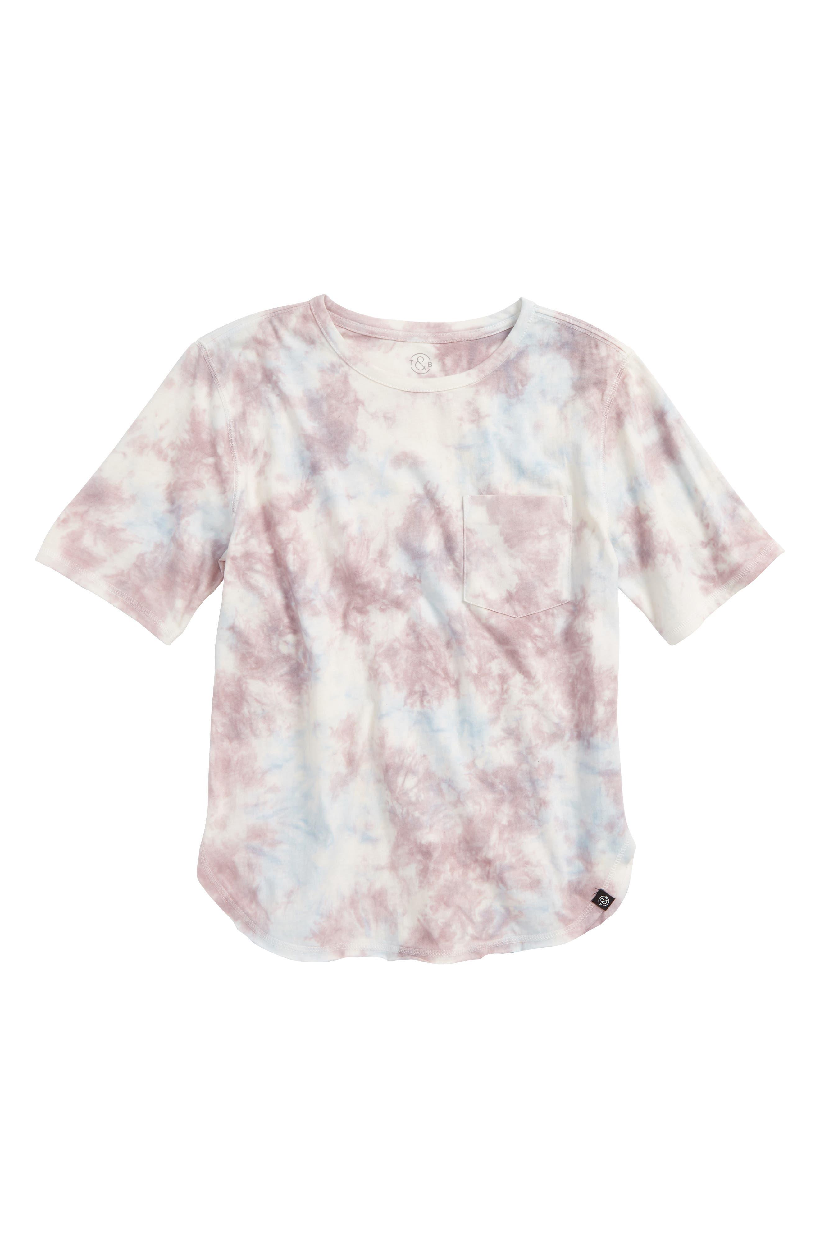Tie Dye T-Shirt,                         Main,                         color, Ivory Multi Tie Dye