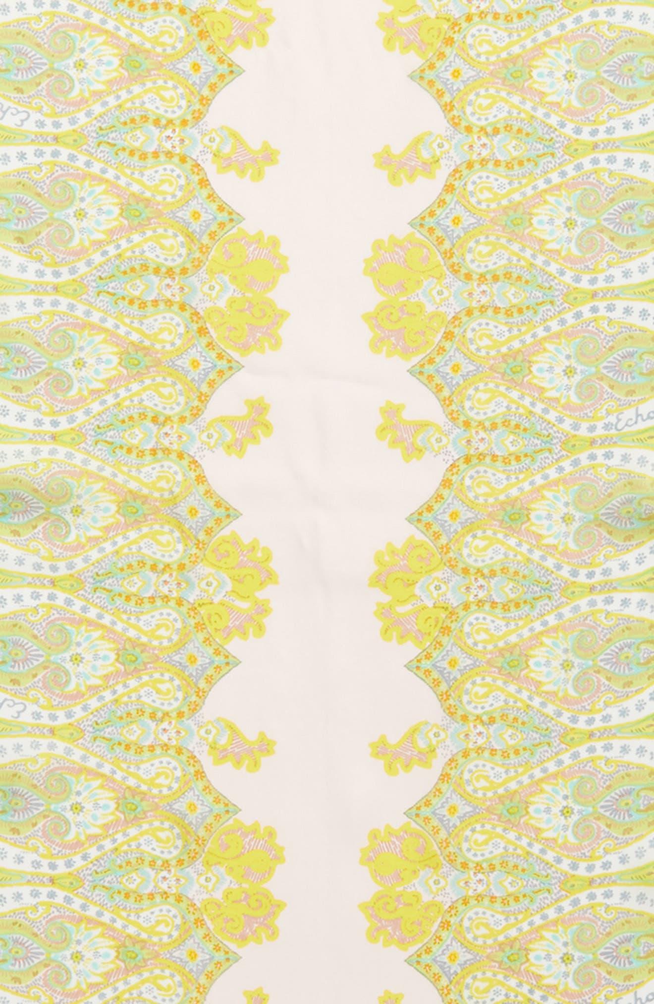 Sea Fan Paisley Silk Scarf,                             Alternate thumbnail 4, color,                             Pearl Pink