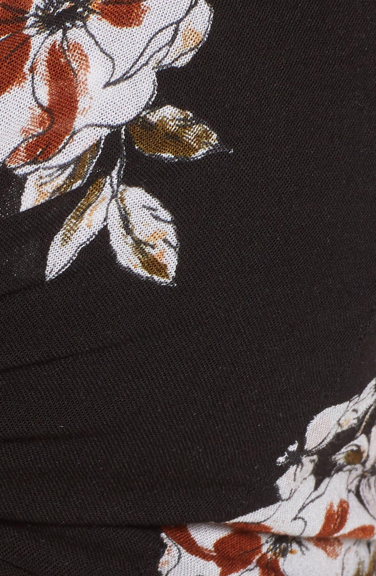 Garnier Floral Print Knot Front Top,                             Alternate thumbnail 6, color,                             Chelsea Floral Print