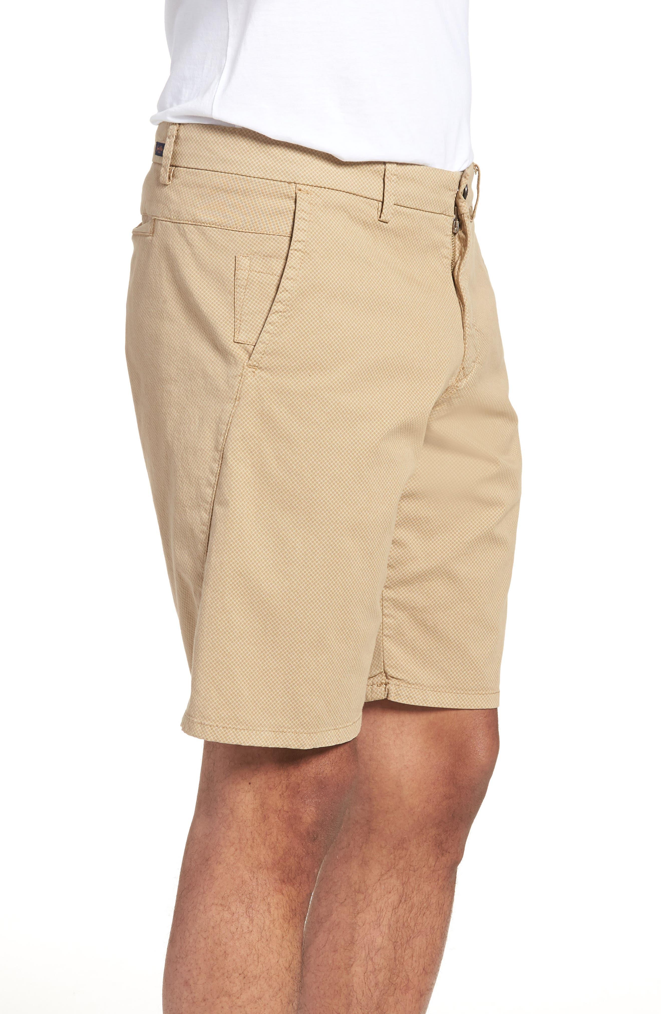 Monaco Diamond Dash Modern Fit Chino Shorts,                             Alternate thumbnail 3, color,                             Khaki