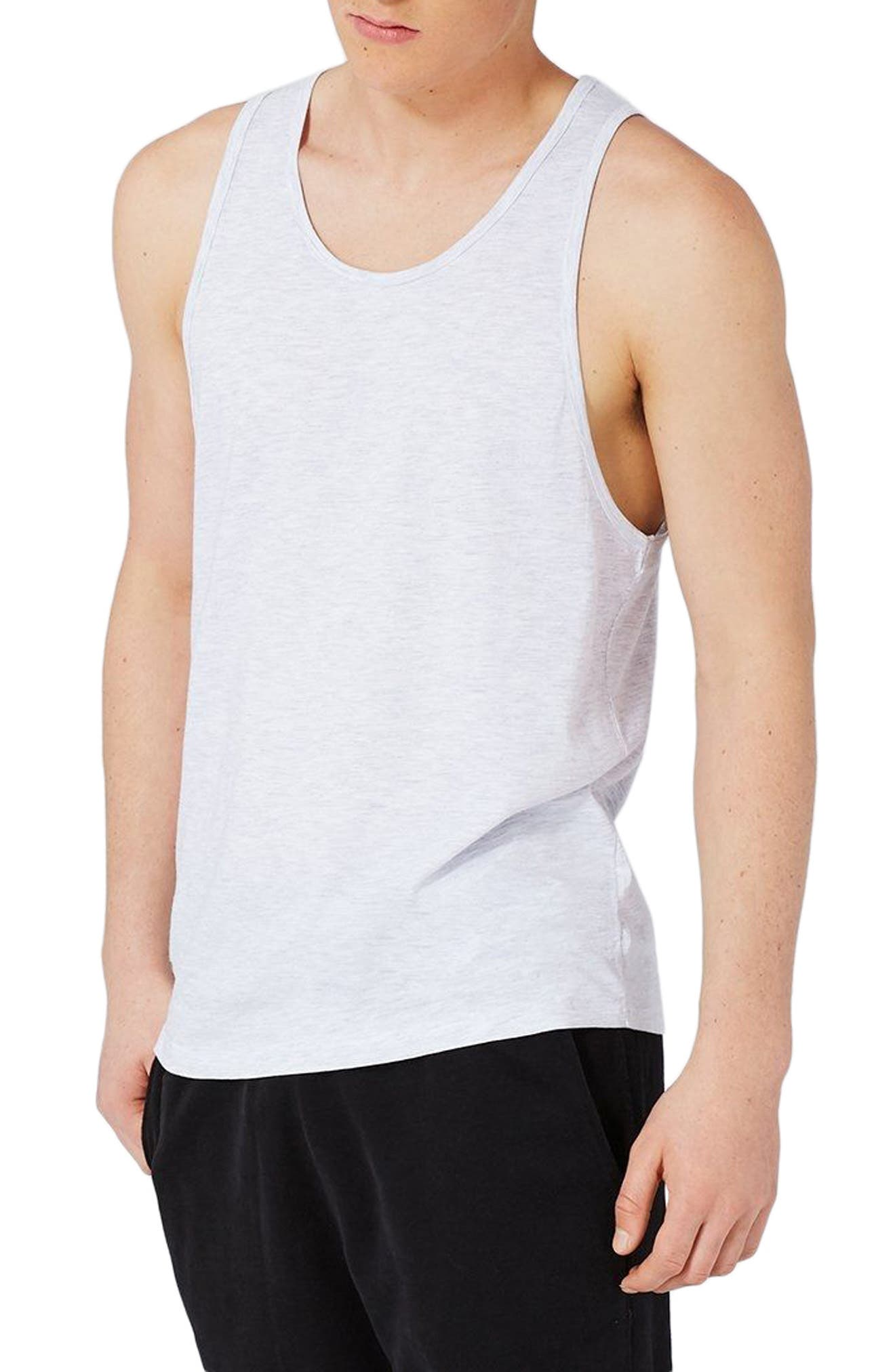 Classic Fit Tank Top,                         Main,                         color, Heatehr Grey