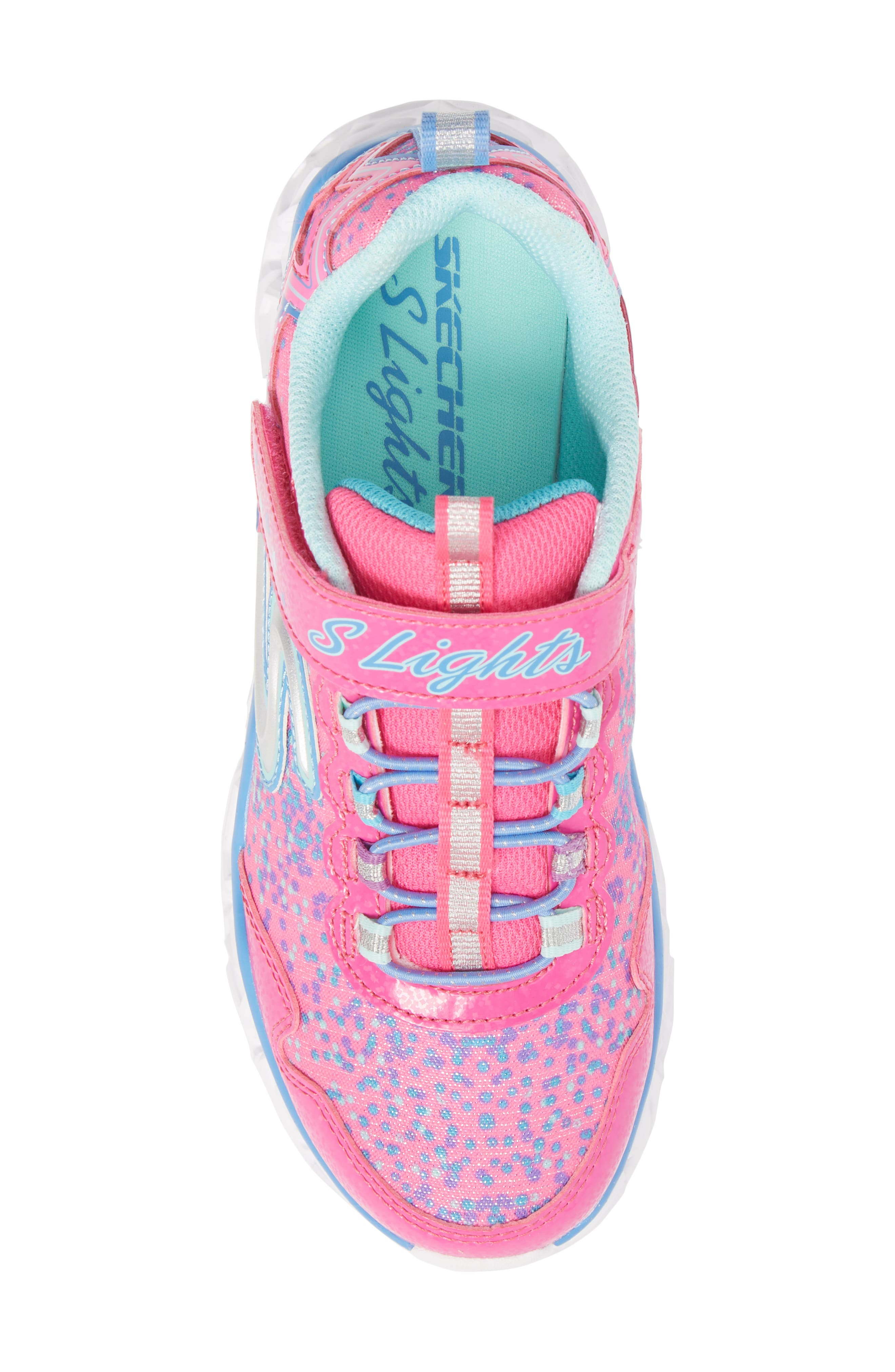 Galaxy Lights Sneakers,                             Alternate thumbnail 5, color,                             Neon Pink/ Multi