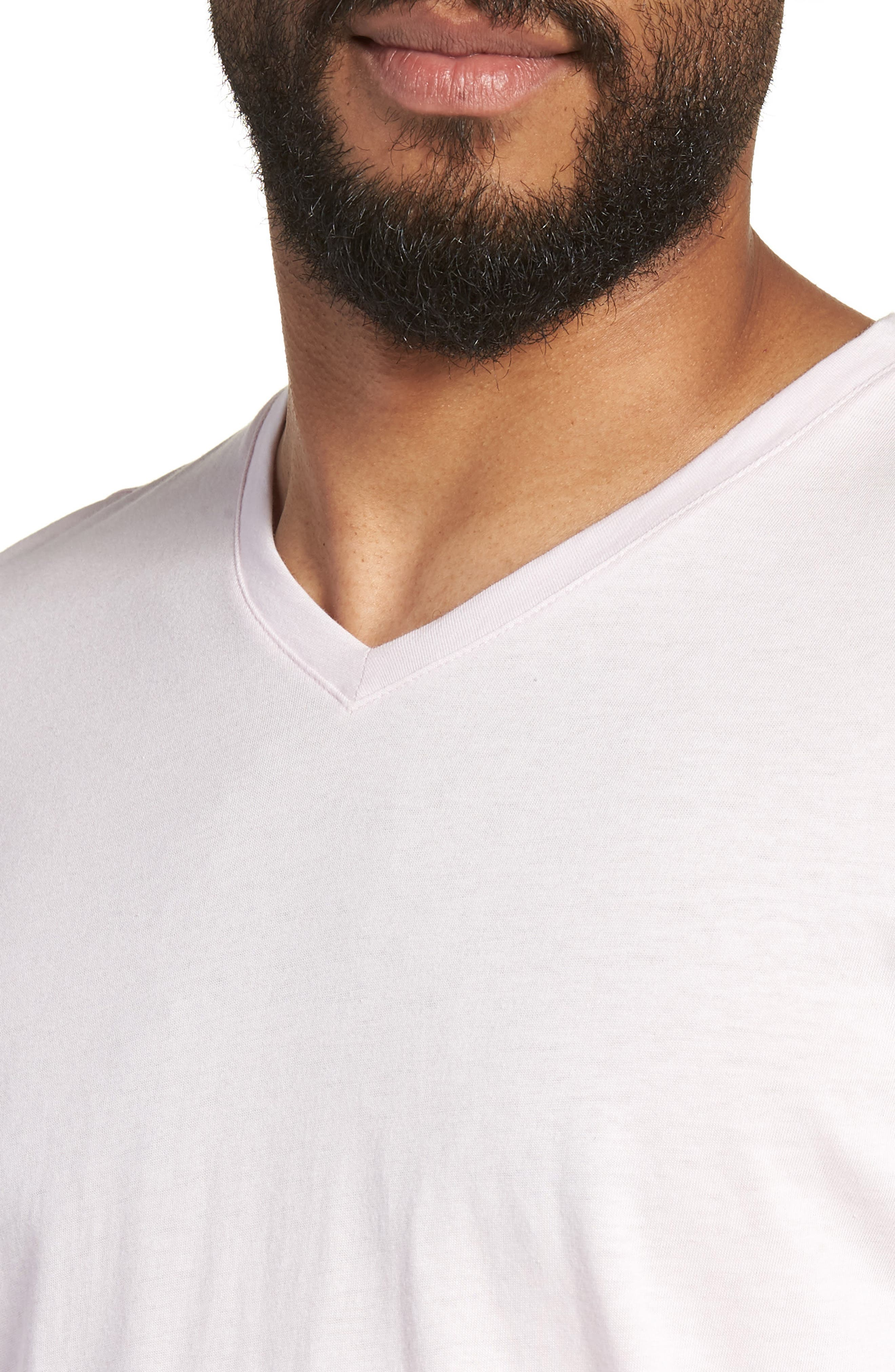 Mercer V-Neck T-Shirt,                             Alternate thumbnail 2, color,                             Light Pink