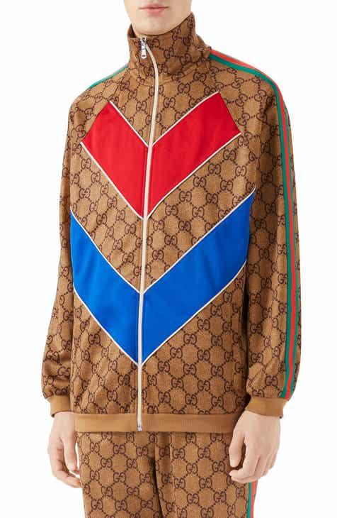 7a0baa1ba52 Gucci GG Supreme Print Tech Jersey Track Jacket