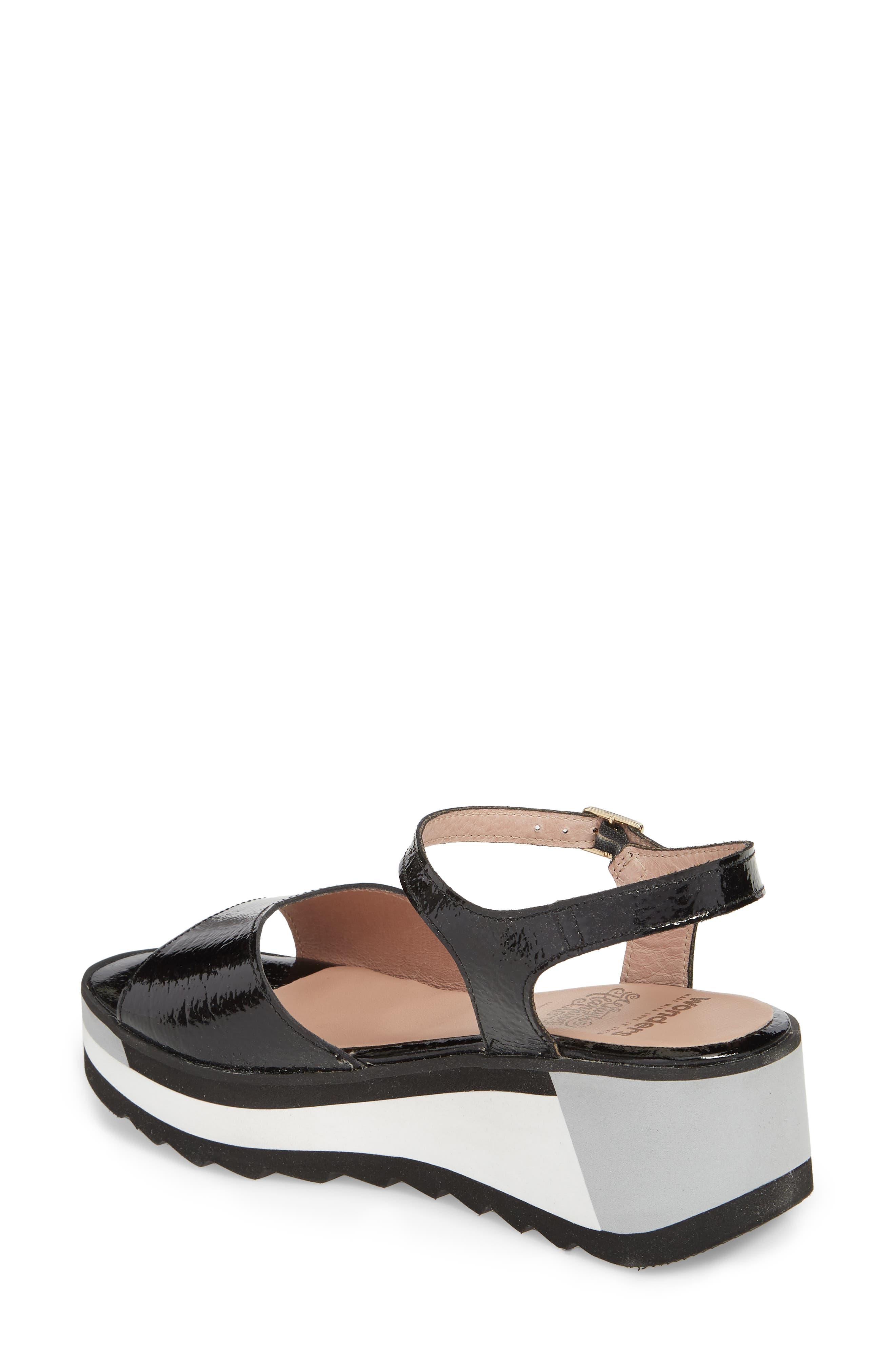 D-7810 Sandal,                             Alternate thumbnail 2, color,                             Black Patent Leather