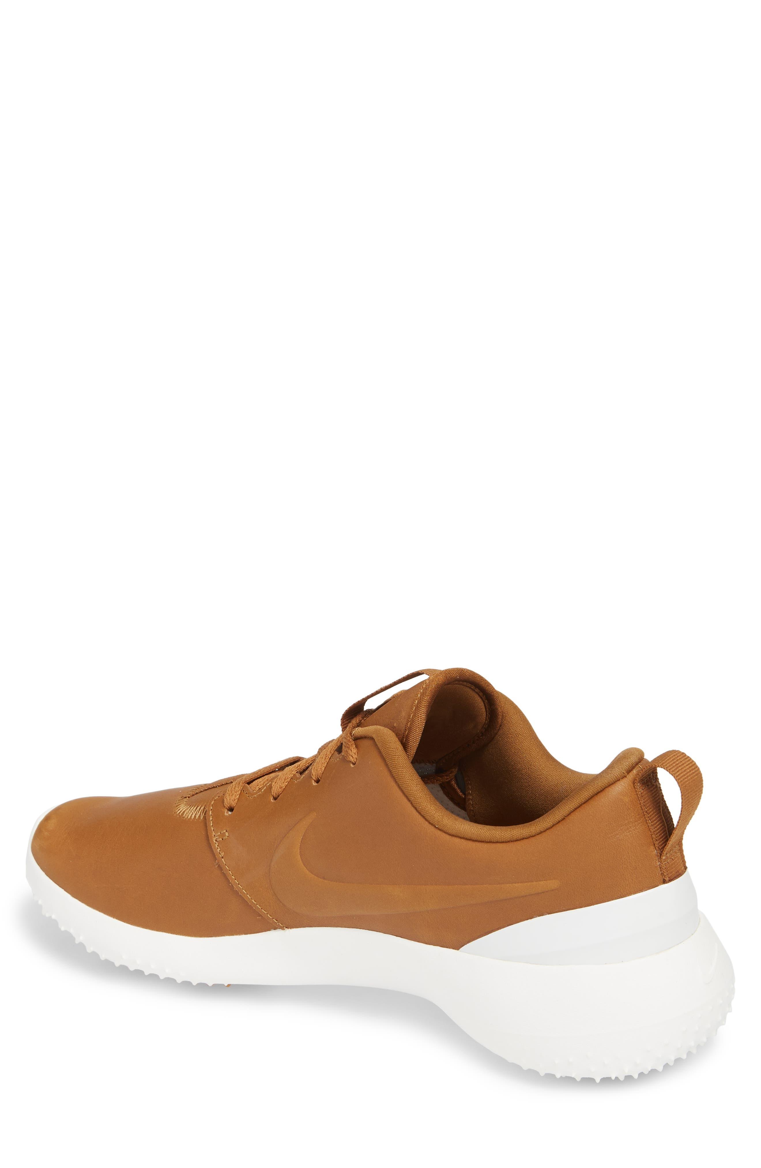 Roshe G Premium Golf Shoe,                             Alternate thumbnail 2, color,                             Ale Brown/ Ale Brown-White