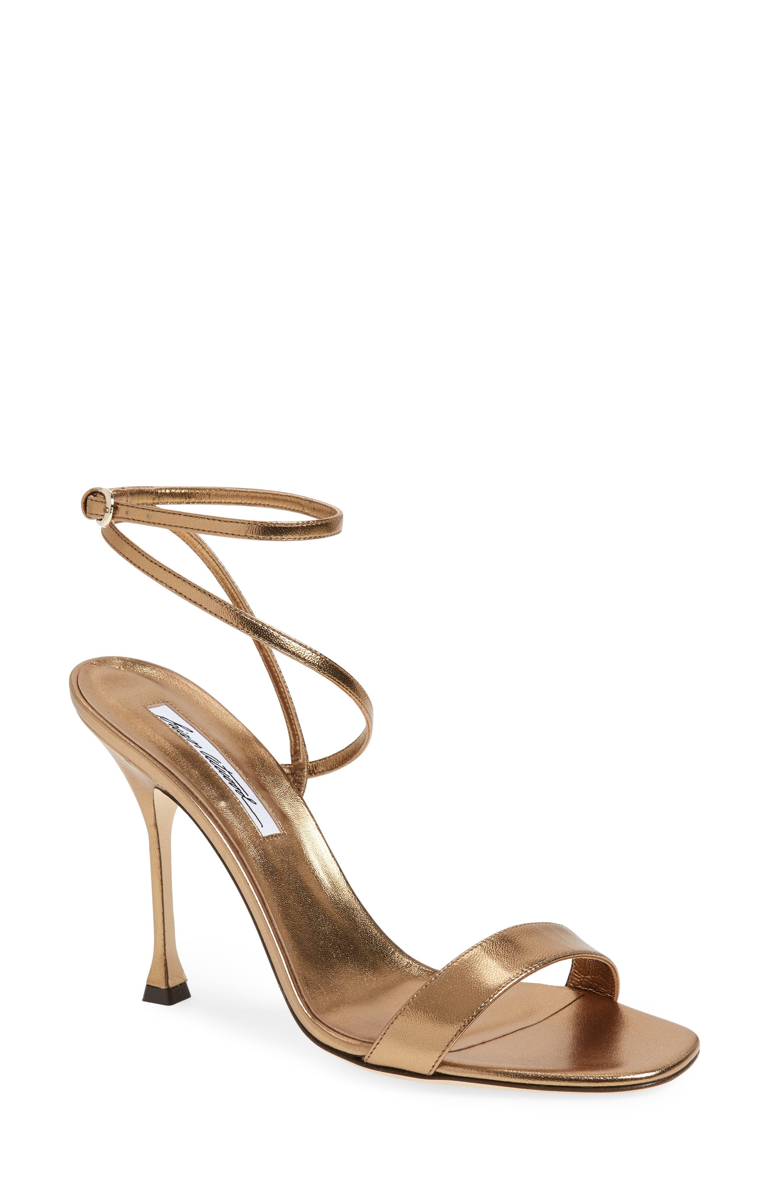 Sienna Ankle Strap Sandal,                         Main,                         color, Bronze Metal Nappa