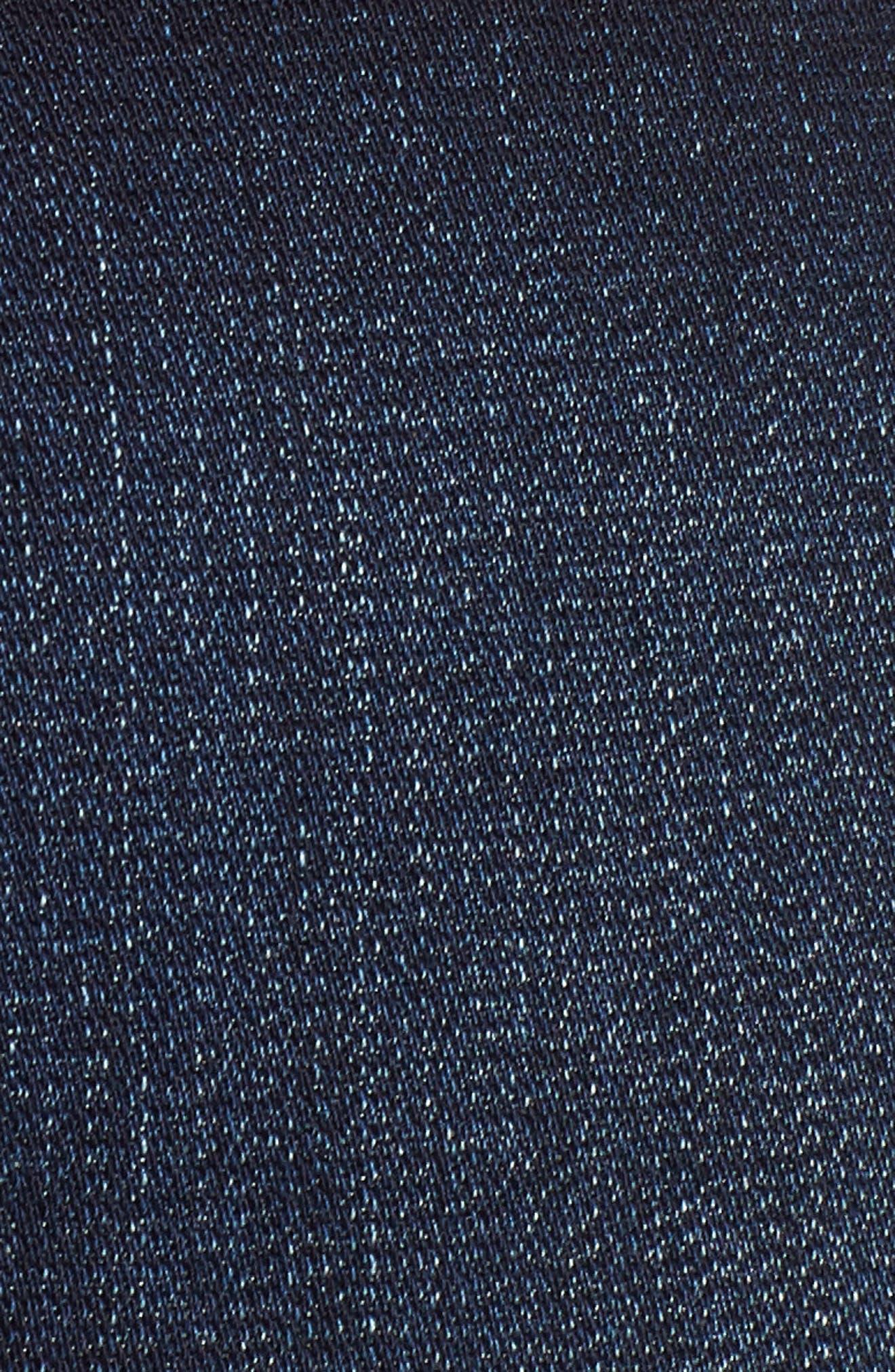 Cuffed Denim Shorts,                             Alternate thumbnail 6, color,                             Dark Wash