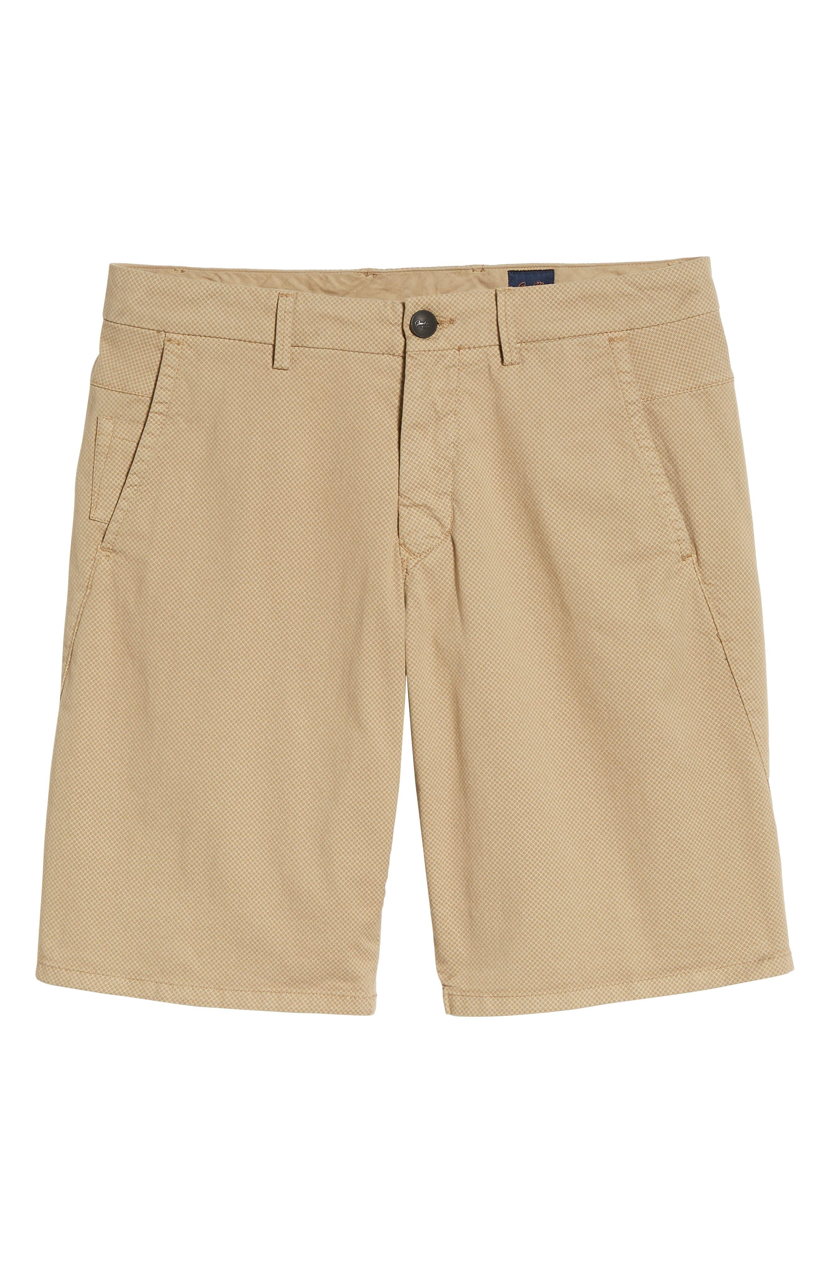 Monaco Diamond Dash Modern Fit Chino Shorts,                             Alternate thumbnail 6, color,                             Khaki