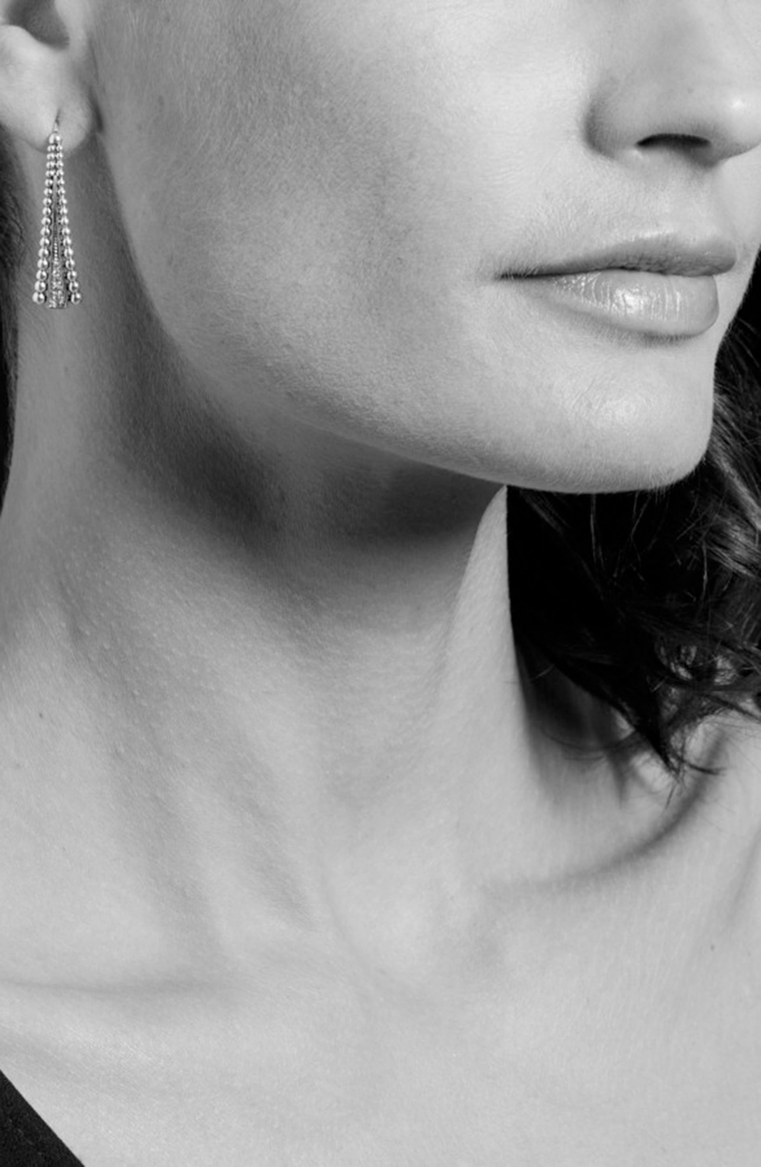 Caviar Spark Diamond Drop Earrings,                             Alternate thumbnail 3, color,                             Diamond