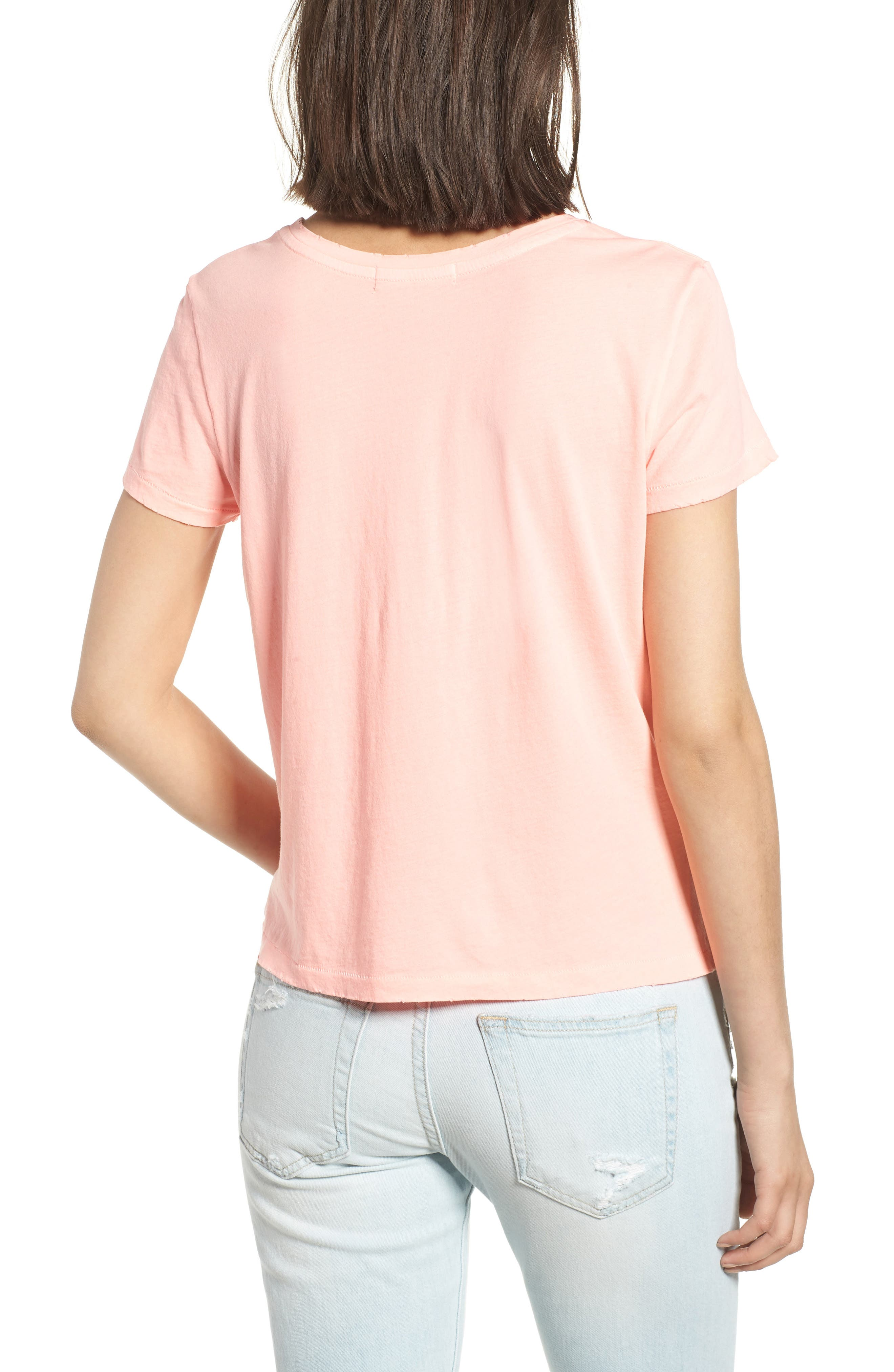 Abigail Deconstructed Tee,                             Alternate thumbnail 2, color,                             Coral