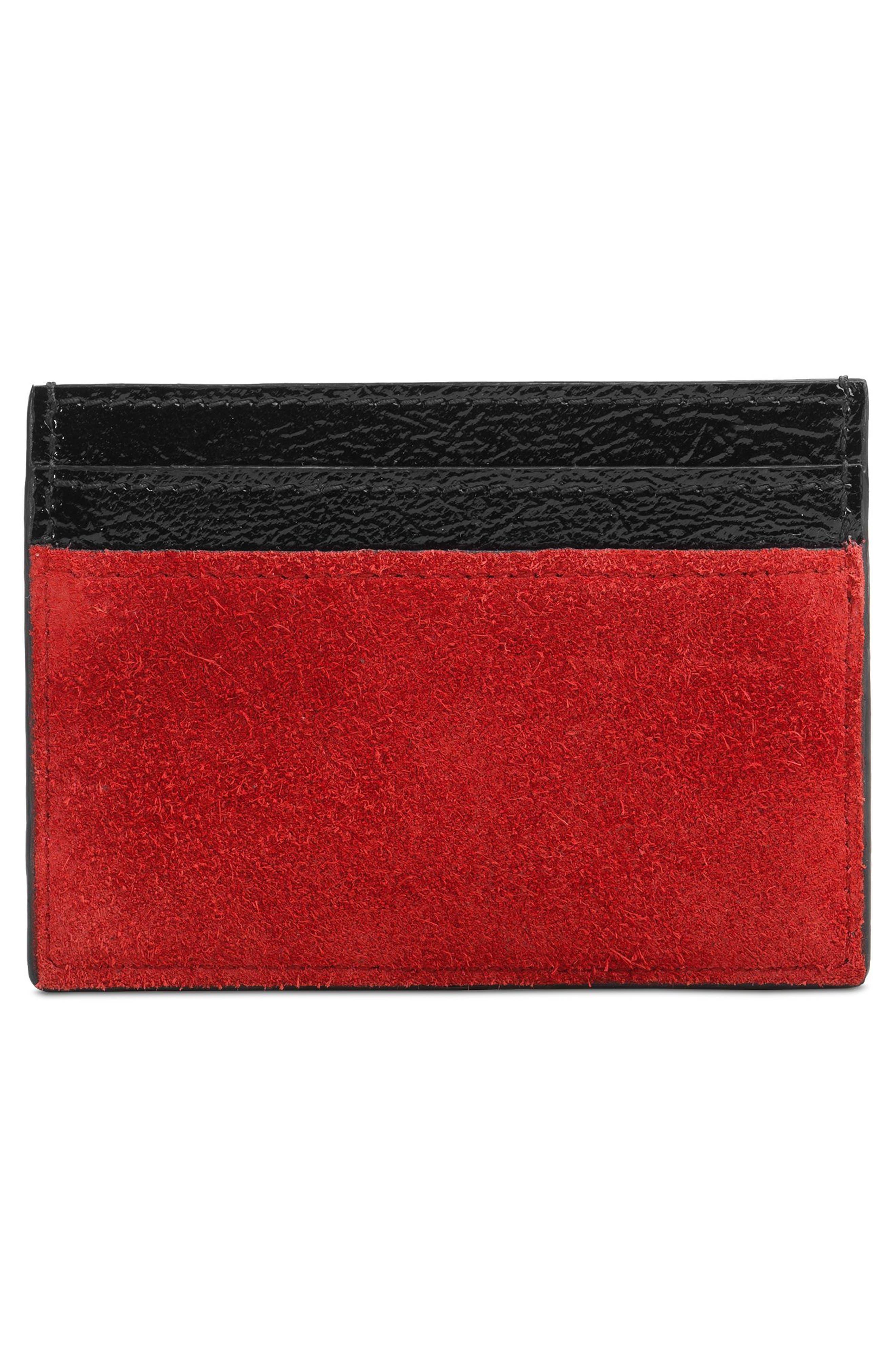 Alternate Image 3  - Gucci Ophidia Suede Card Case