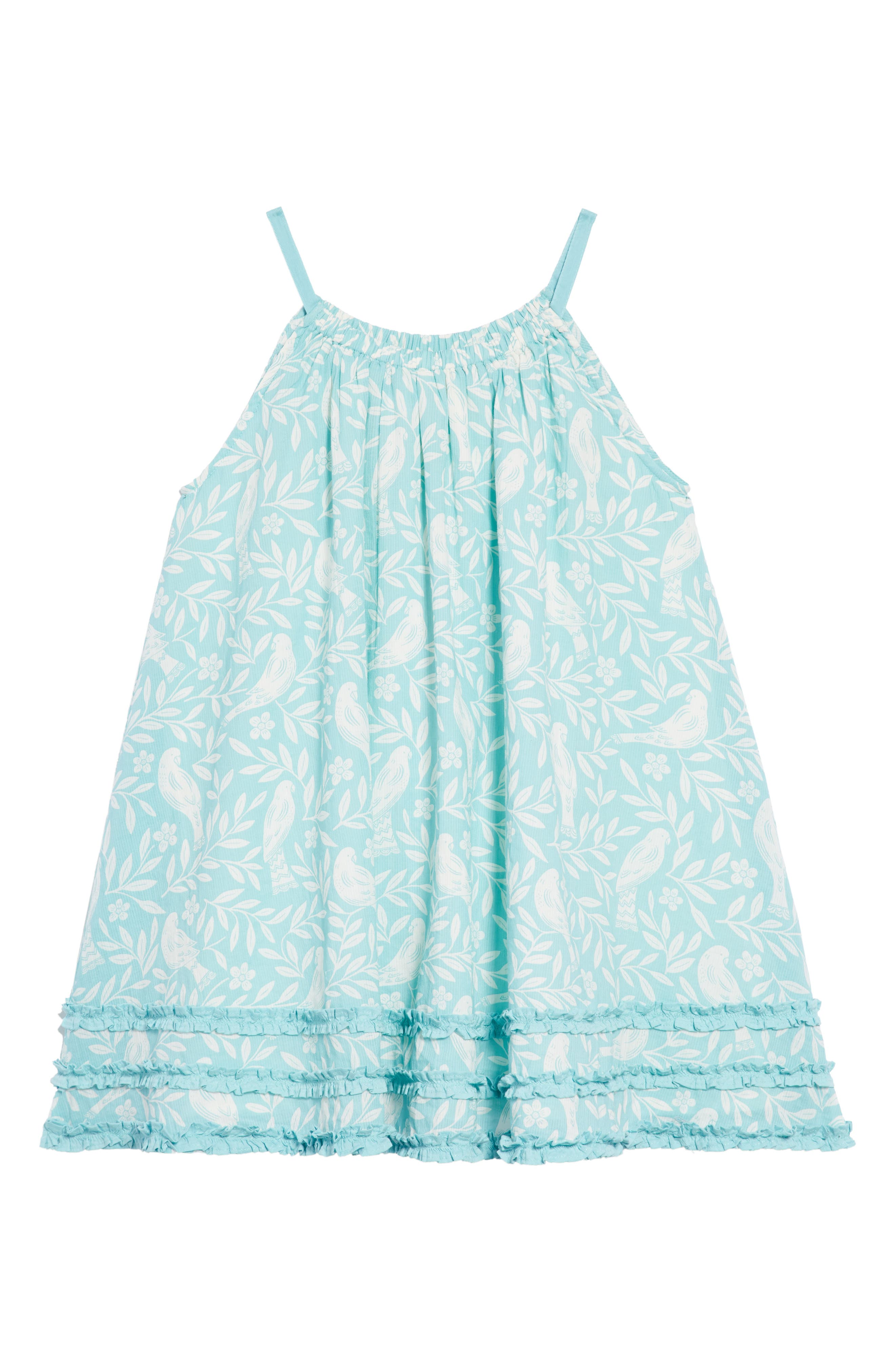 Vacation Woven Dress,                             Alternate thumbnail 3, color,                             Camper Blue Lino Bir