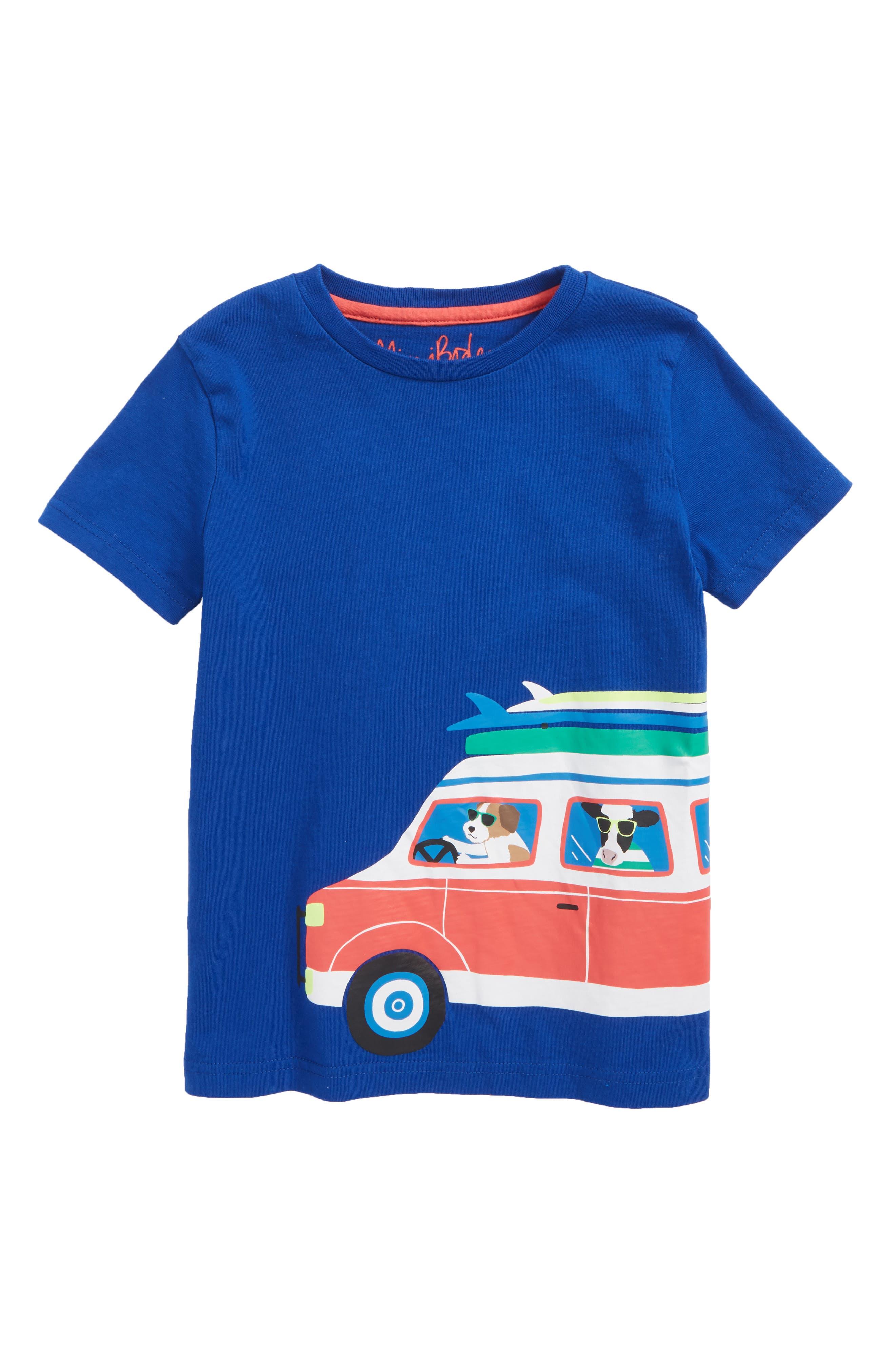 Main Image - Mini Boden Surf Van Graphic T-Shirt (Toddler Boys, Little Boys & Big Boys)