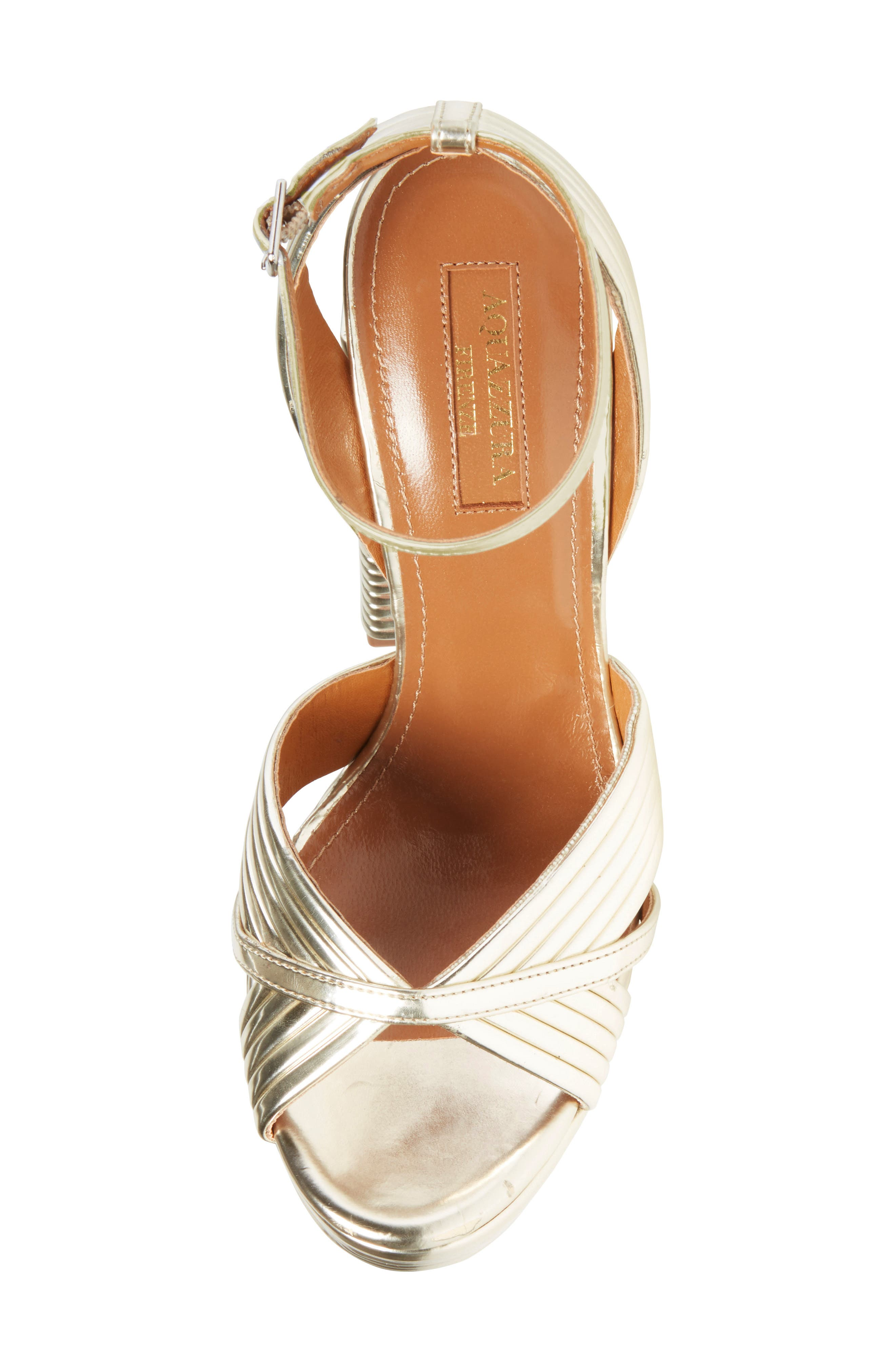 Sundance Platform Sandal,                             Alternate thumbnail 5, color,                             Light Gold