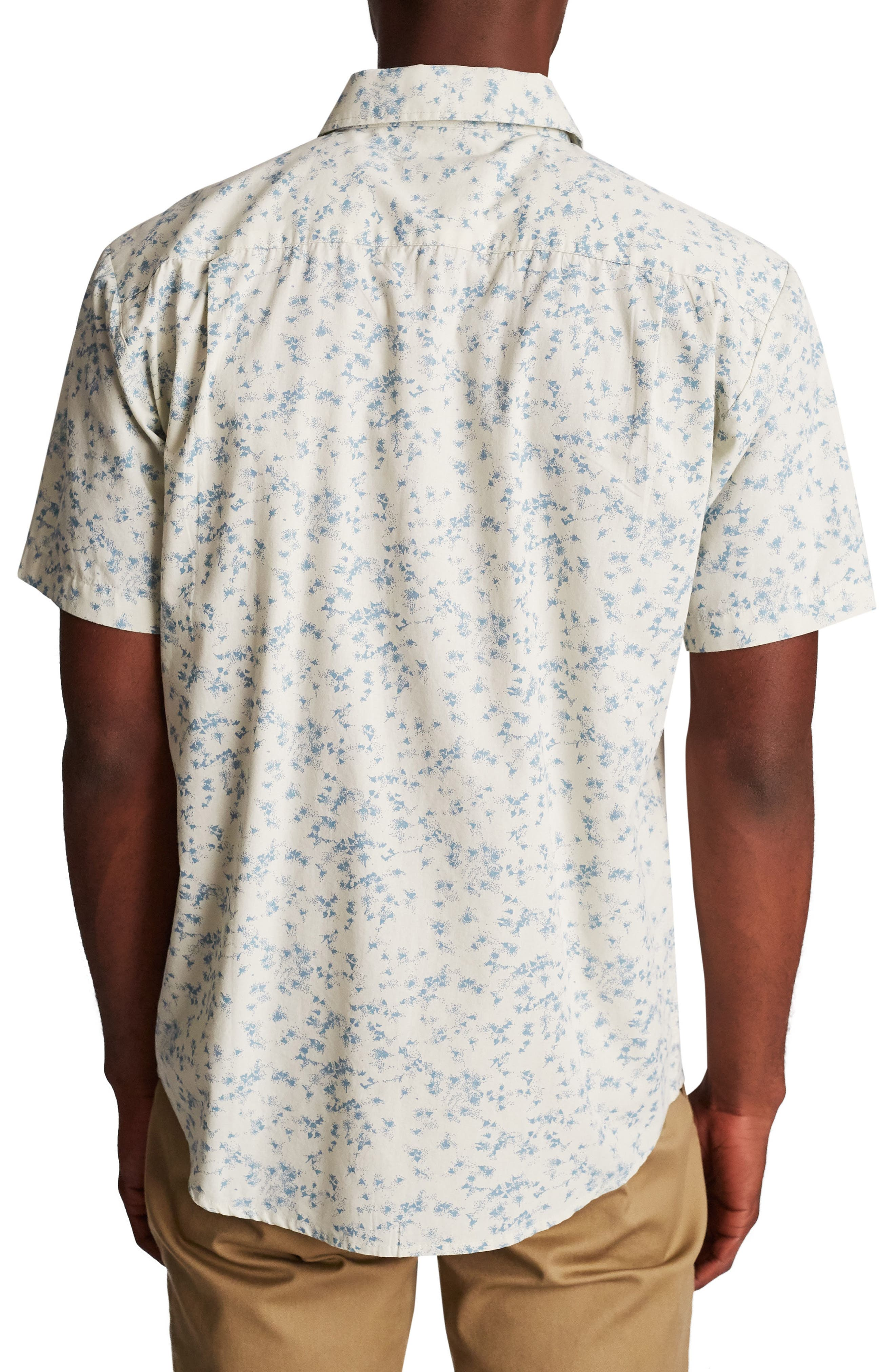 Charter Woven Shirt,                             Alternate thumbnail 2, color,                             Off White/ Dusty Blue