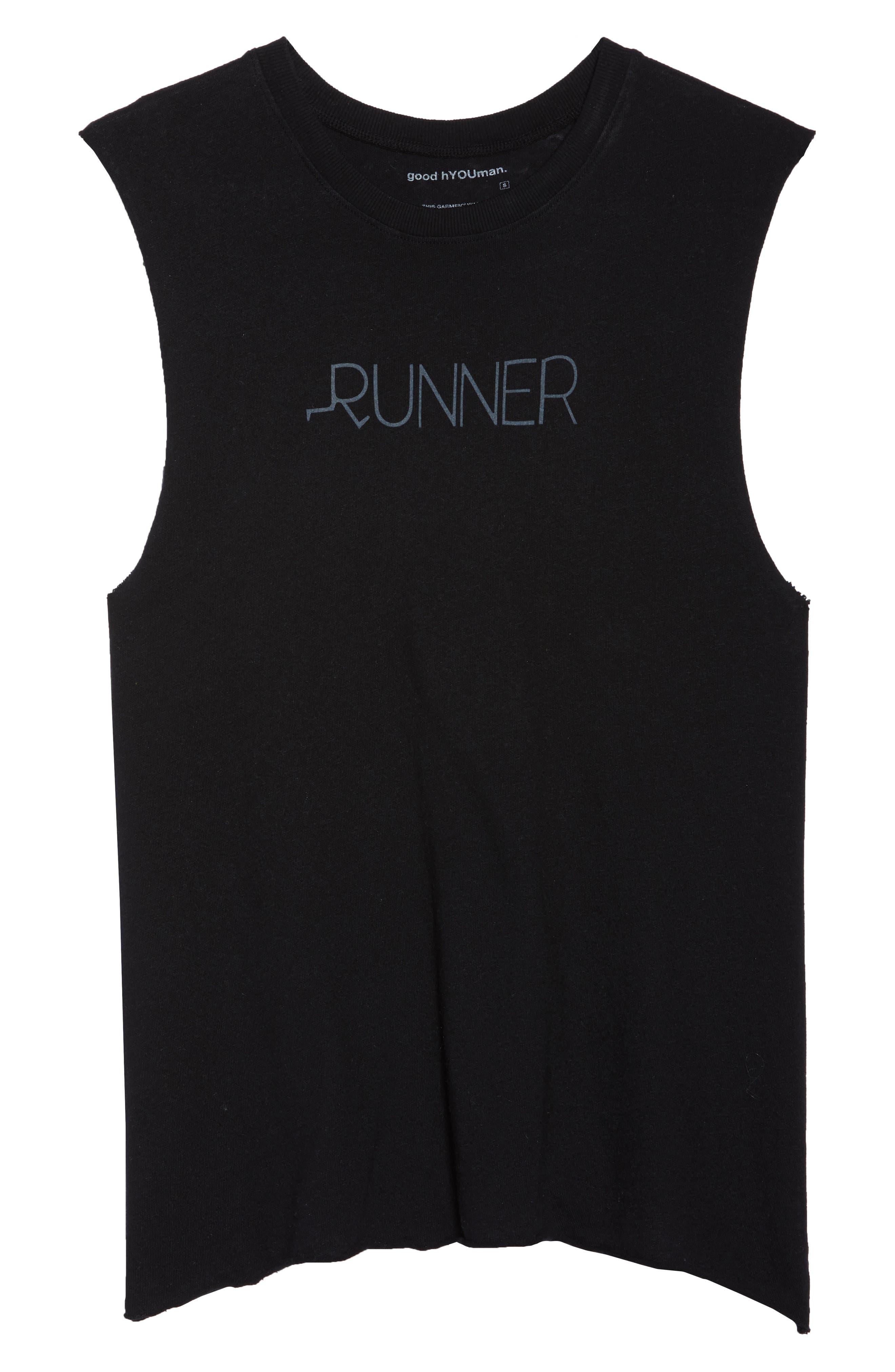 Aquilera Runner Tank,                             Alternate thumbnail 6, color,                             Black Sand