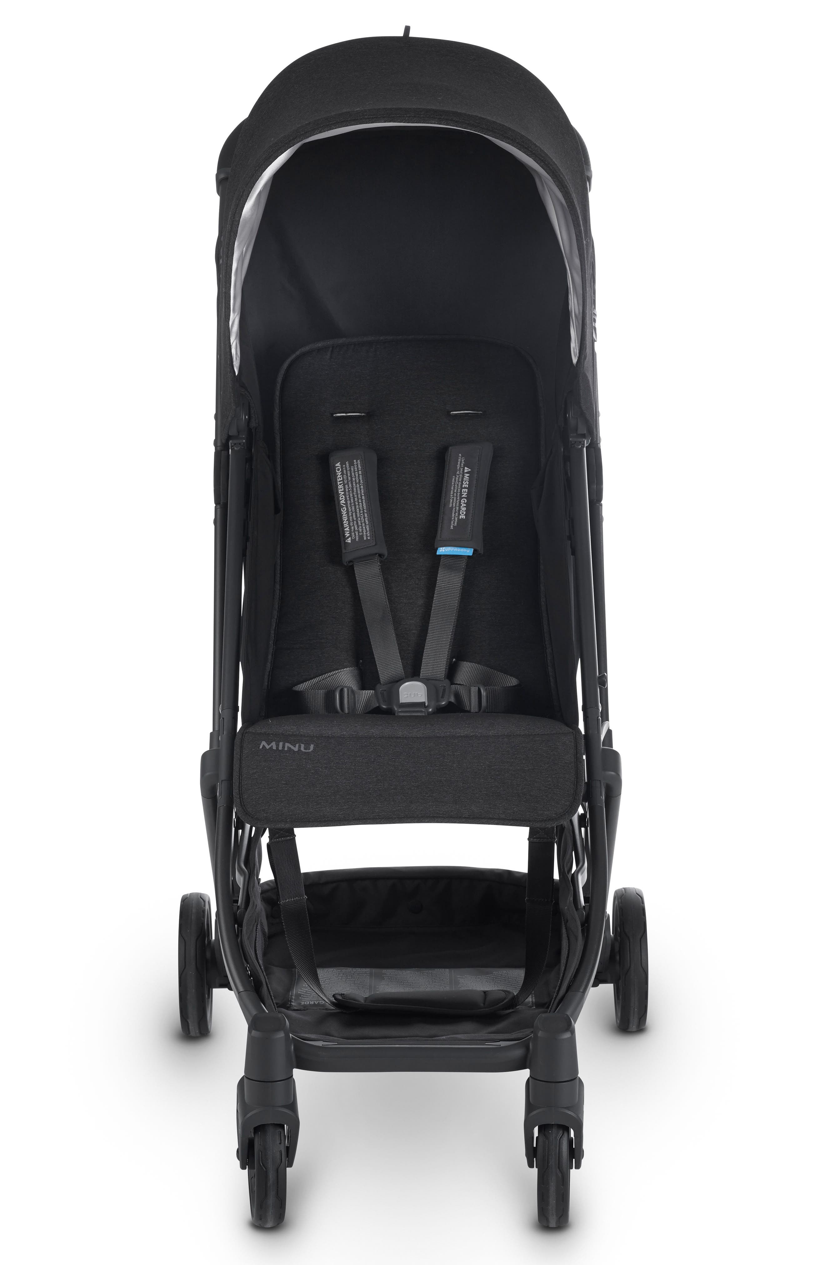 Minu Stroller,                             Main thumbnail 1, color,                             Jake Black/ Carbon/ Leather