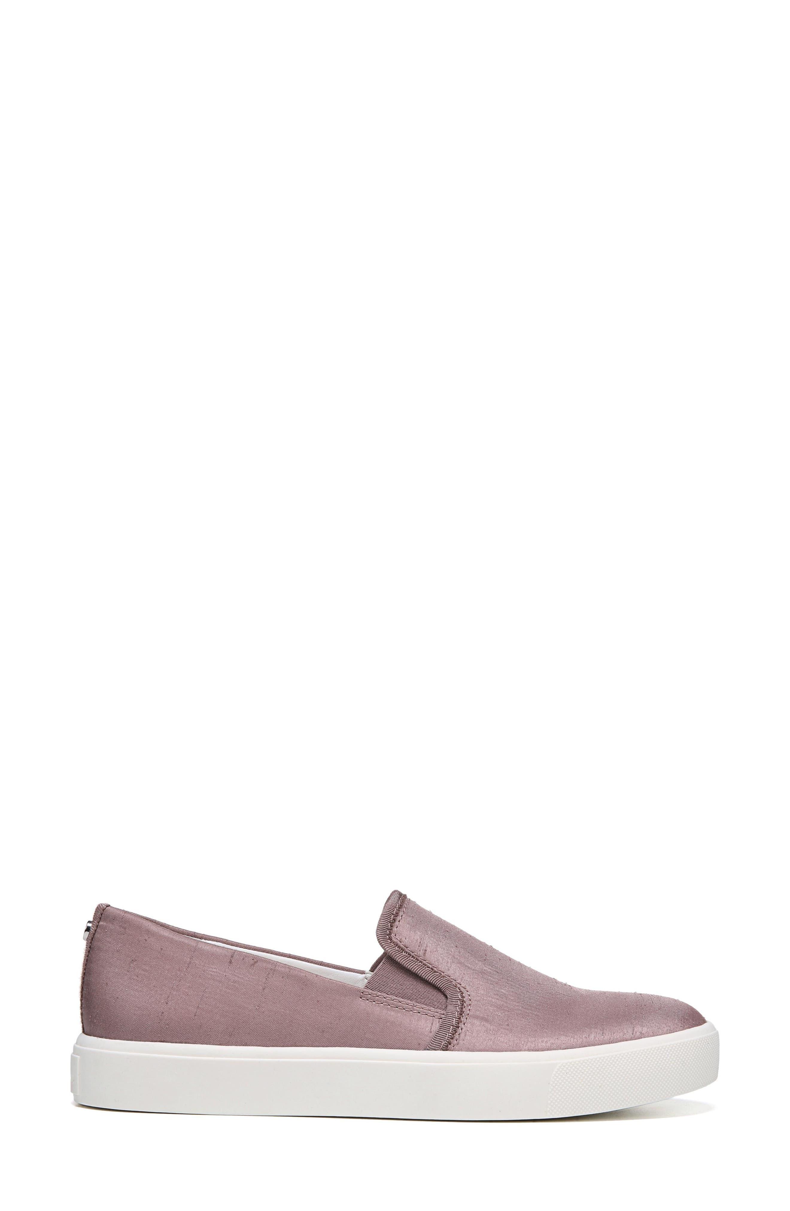 Elton Slip-On Sneaker,                             Alternate thumbnail 3, color,                             Pink Mauve Silk Fabric