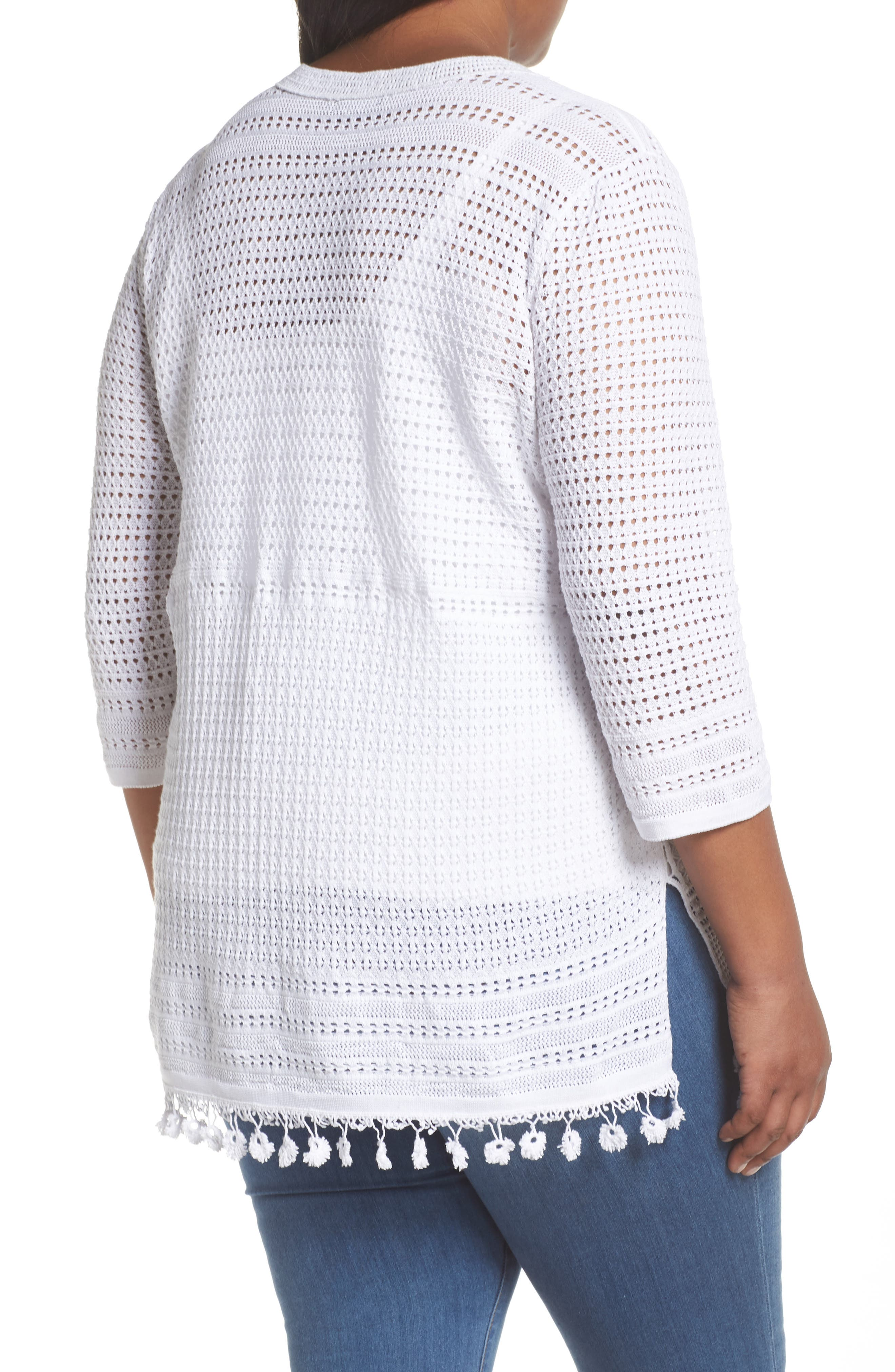Right on Track Tunic Sweater,                             Alternate thumbnail 2, color,                             Paper White