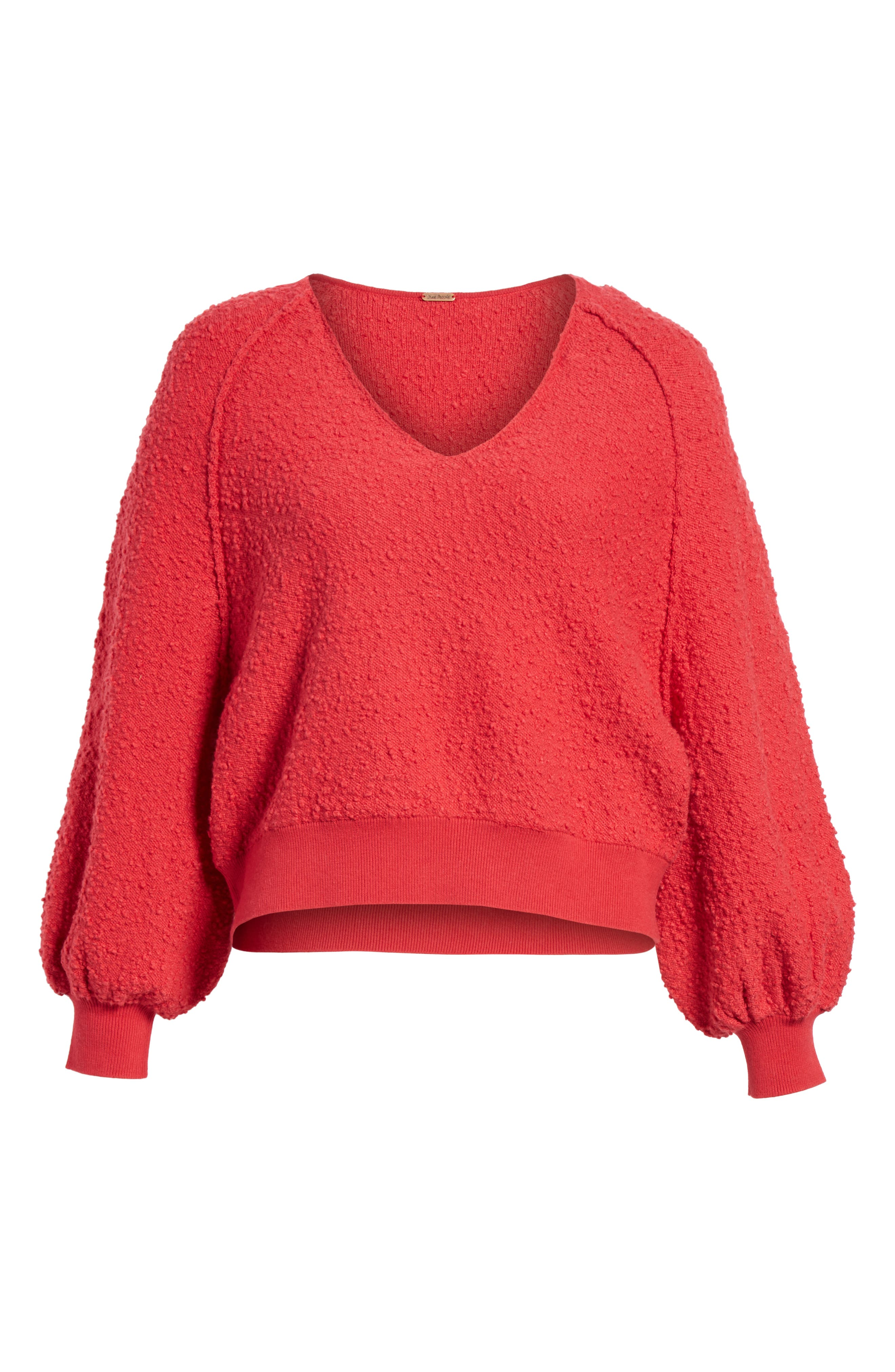 Found My Friend Sweater,                             Alternate thumbnail 6, color,                             Red