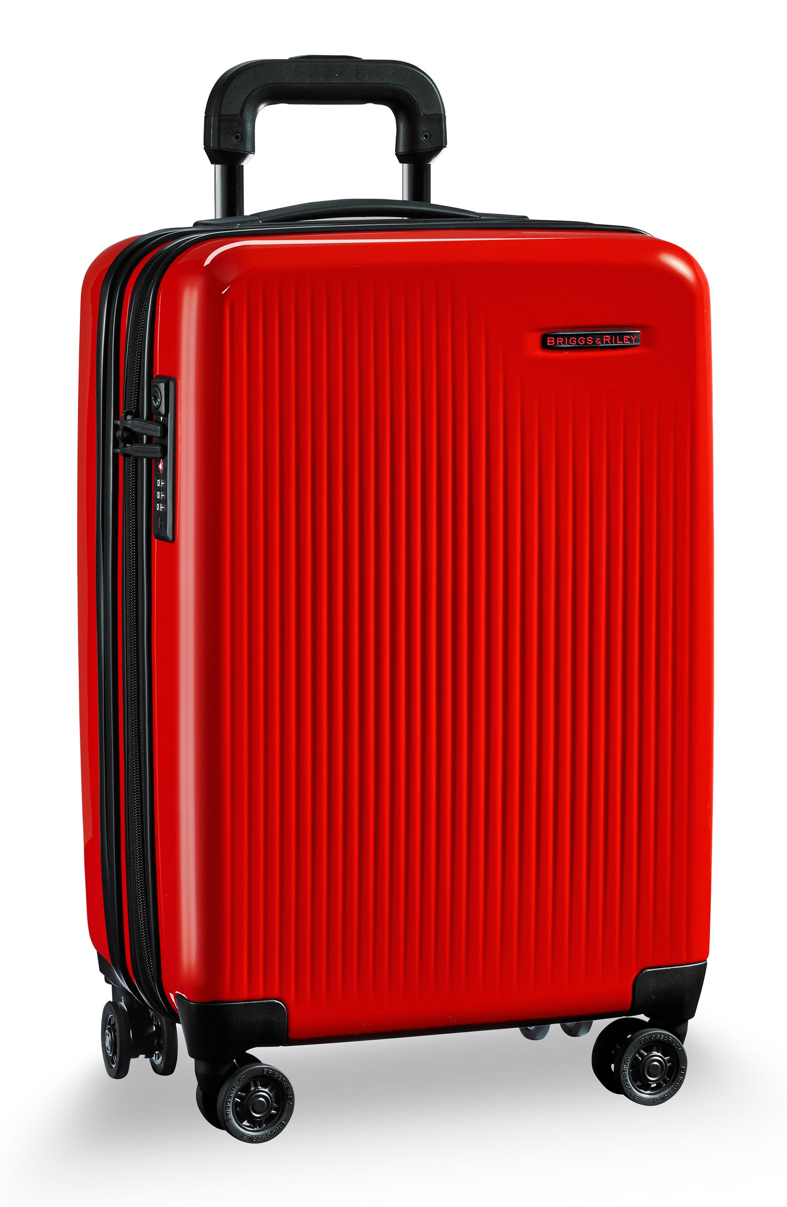 Domestic Expandable Spinner Wheeled Carry-On,                             Alternate thumbnail 3, color,                             Fire