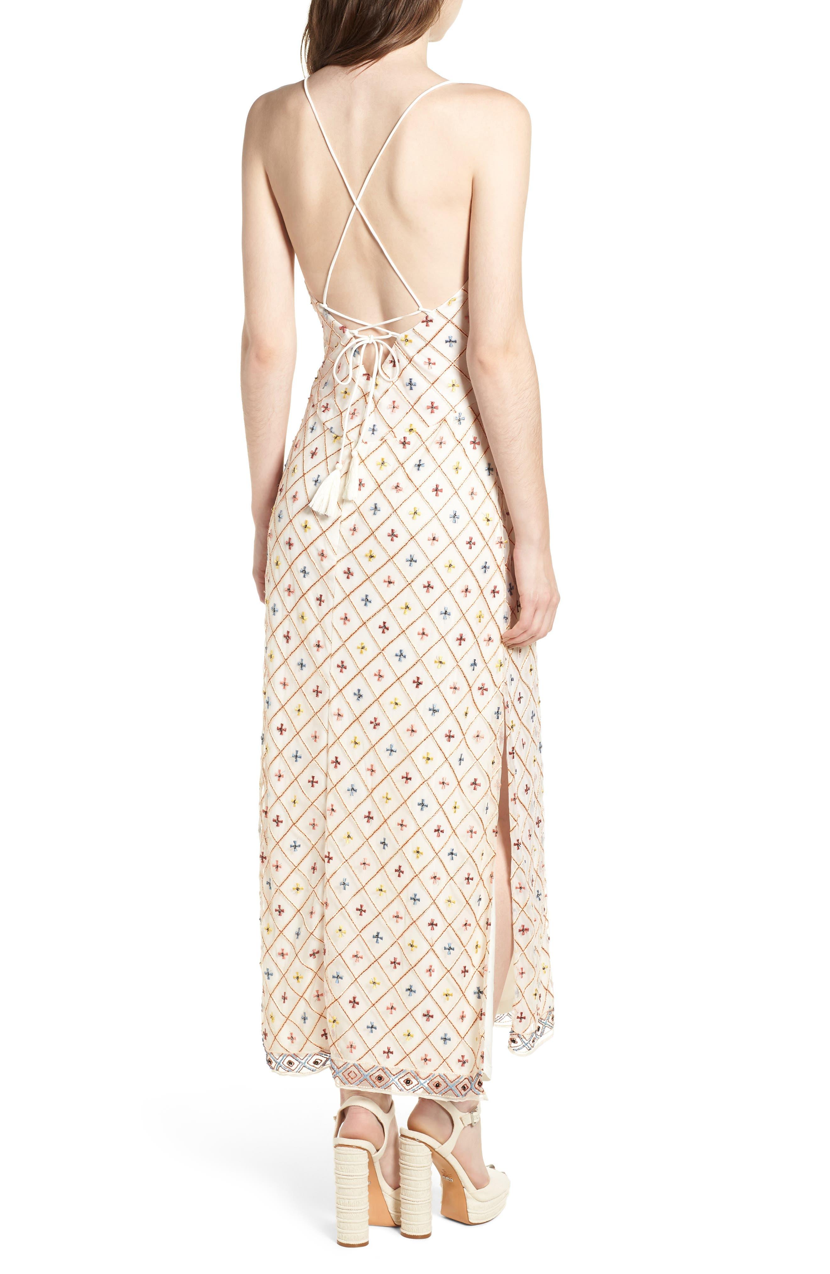 Linda Maxi Dress,                             Alternate thumbnail 2, color,                             Cream