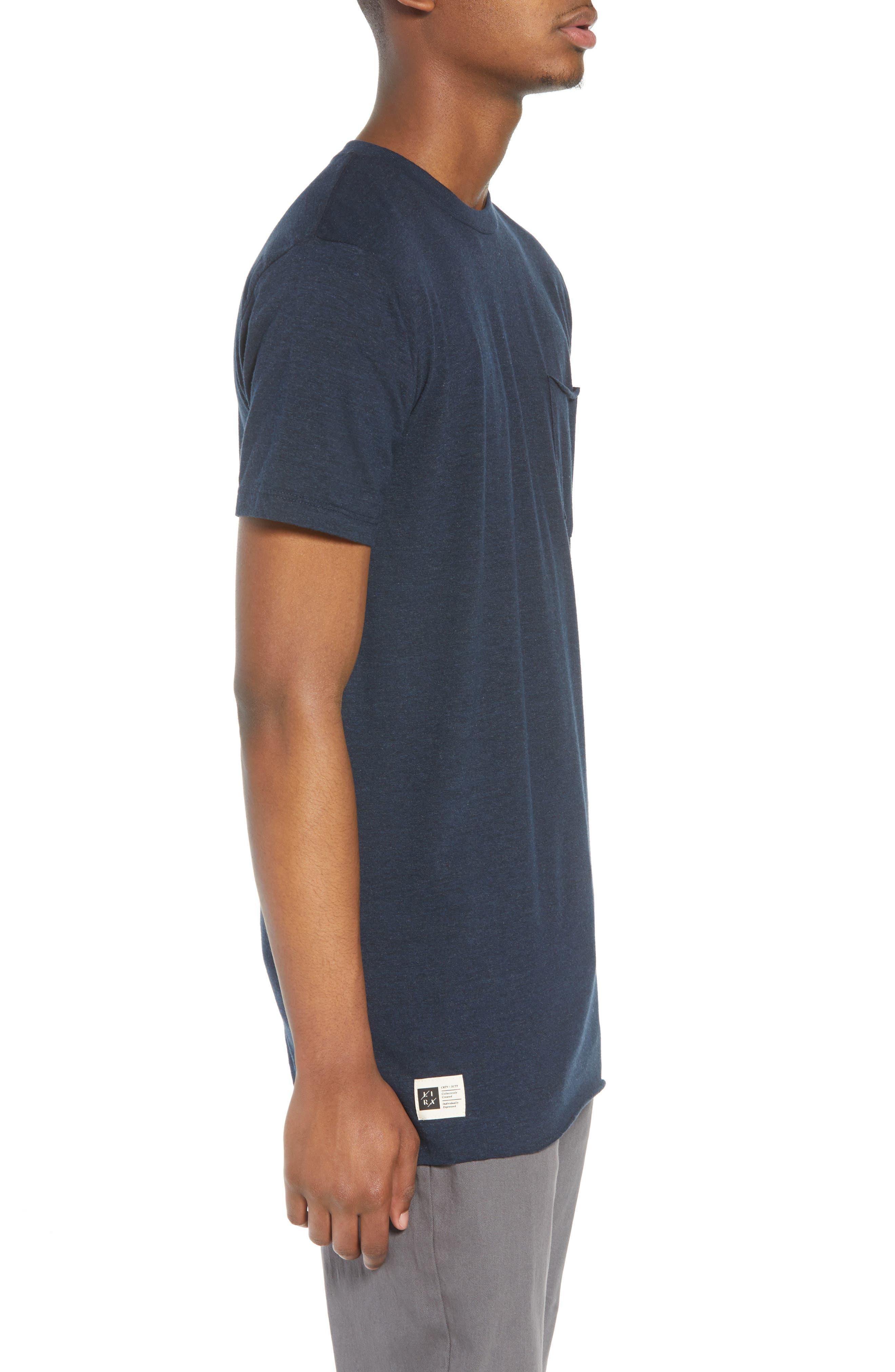 Winslow T-Shirt,                             Alternate thumbnail 3, color,                             Heather Navy