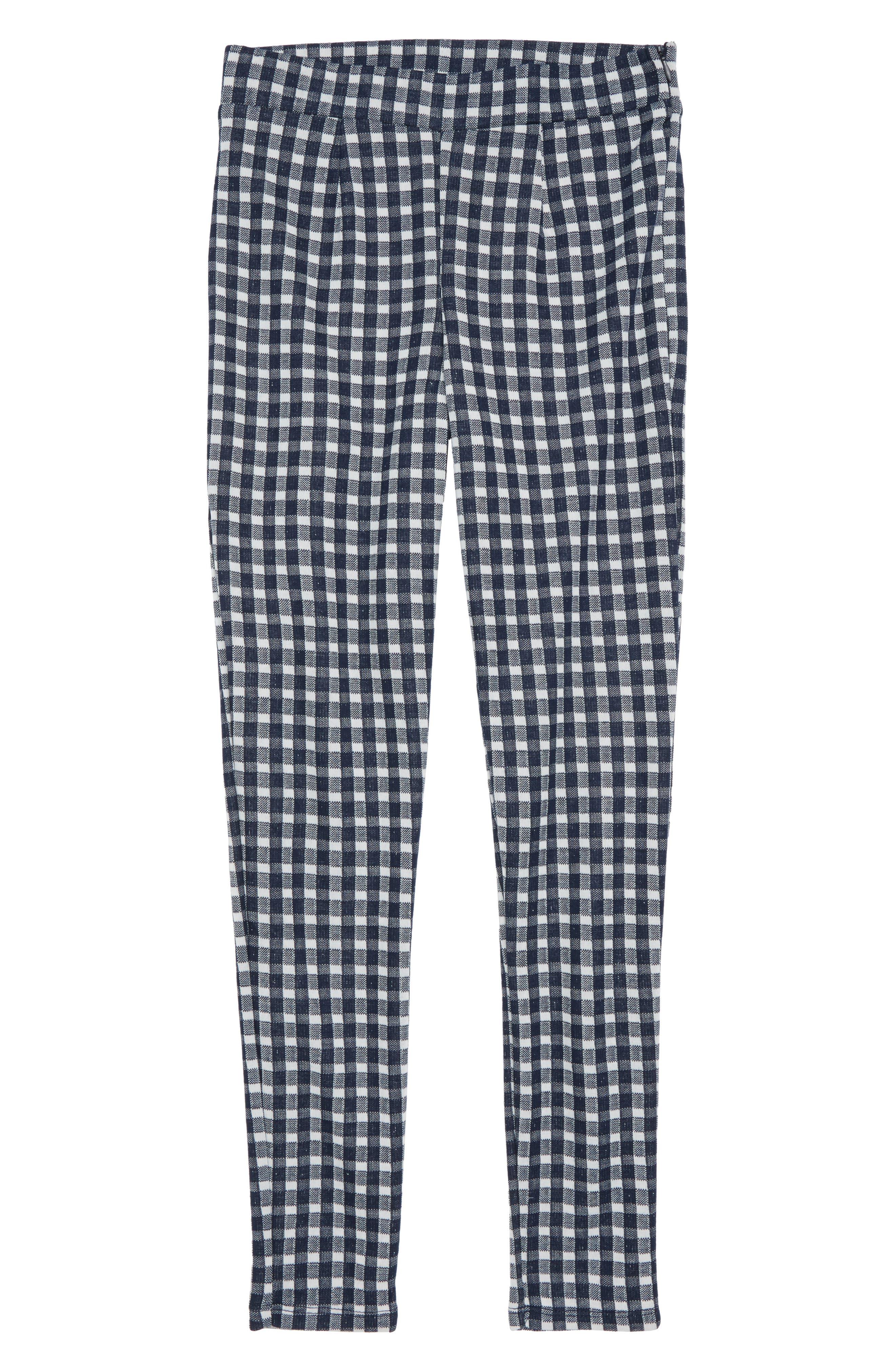 Plaid Pants,                             Main thumbnail 1, color,                             Navy/ White