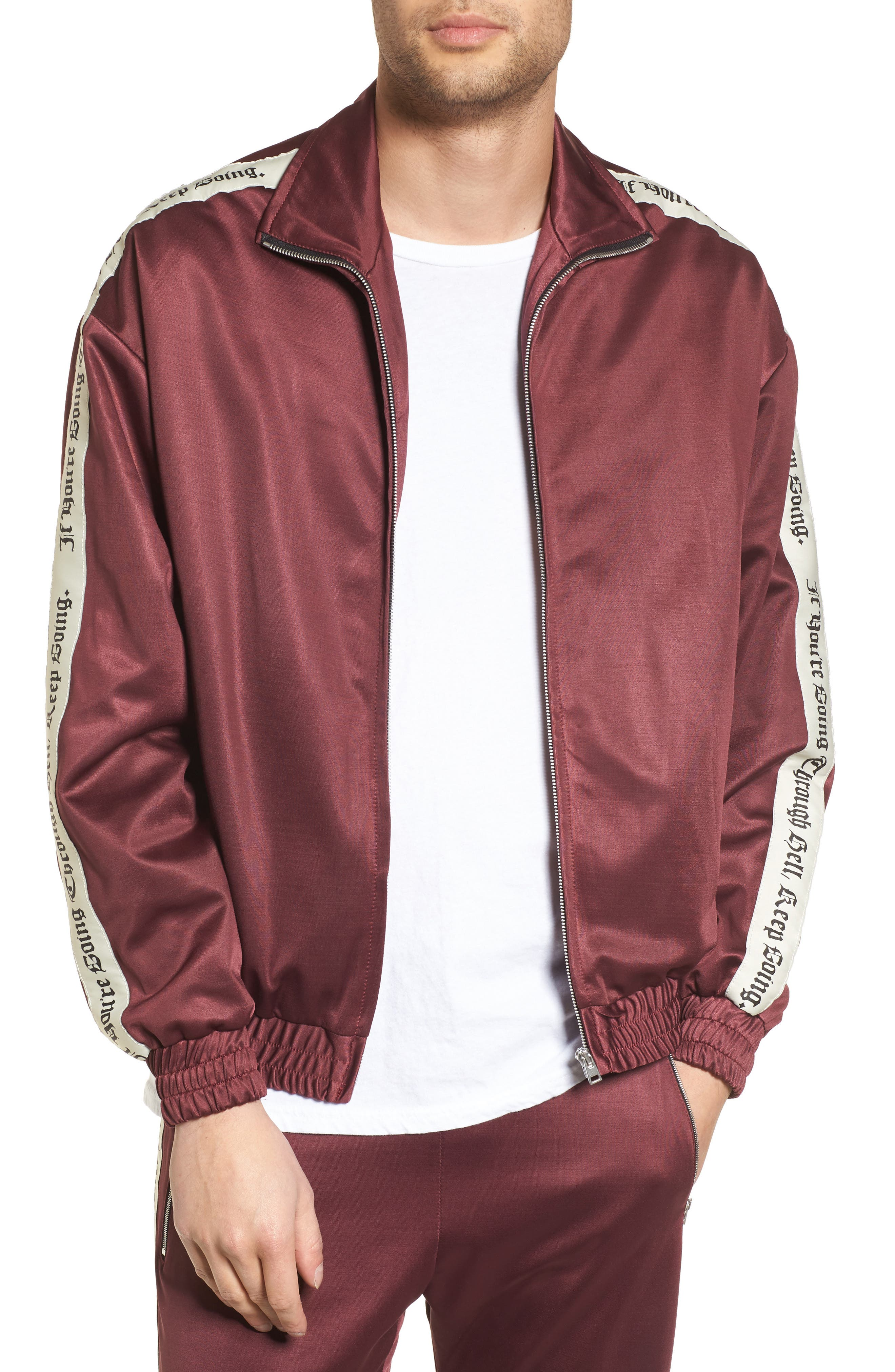 Track Jacket,                         Main,                         color, Tawny