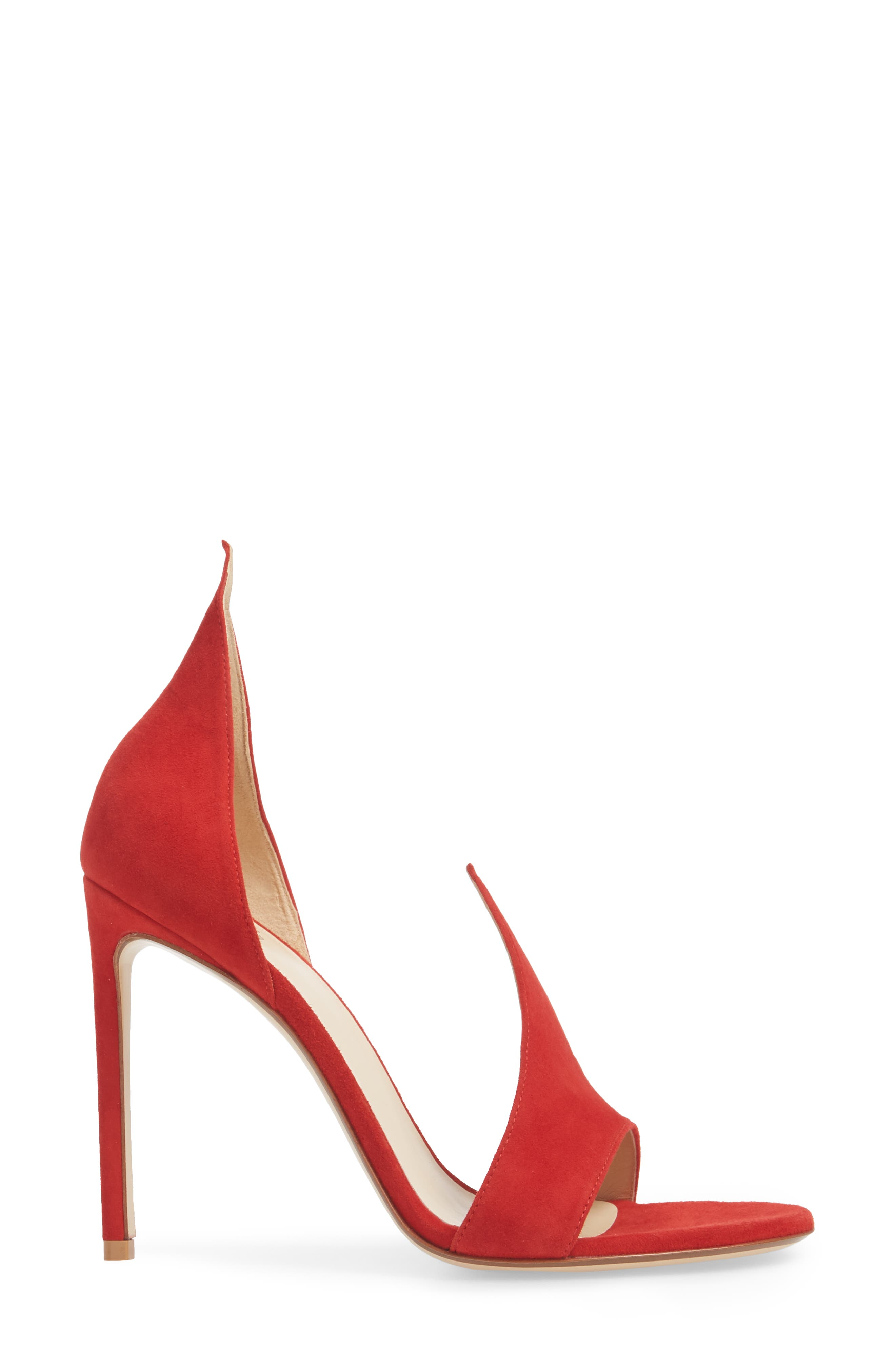Flame Sandal,                             Alternate thumbnail 3, color,                             Red Suede