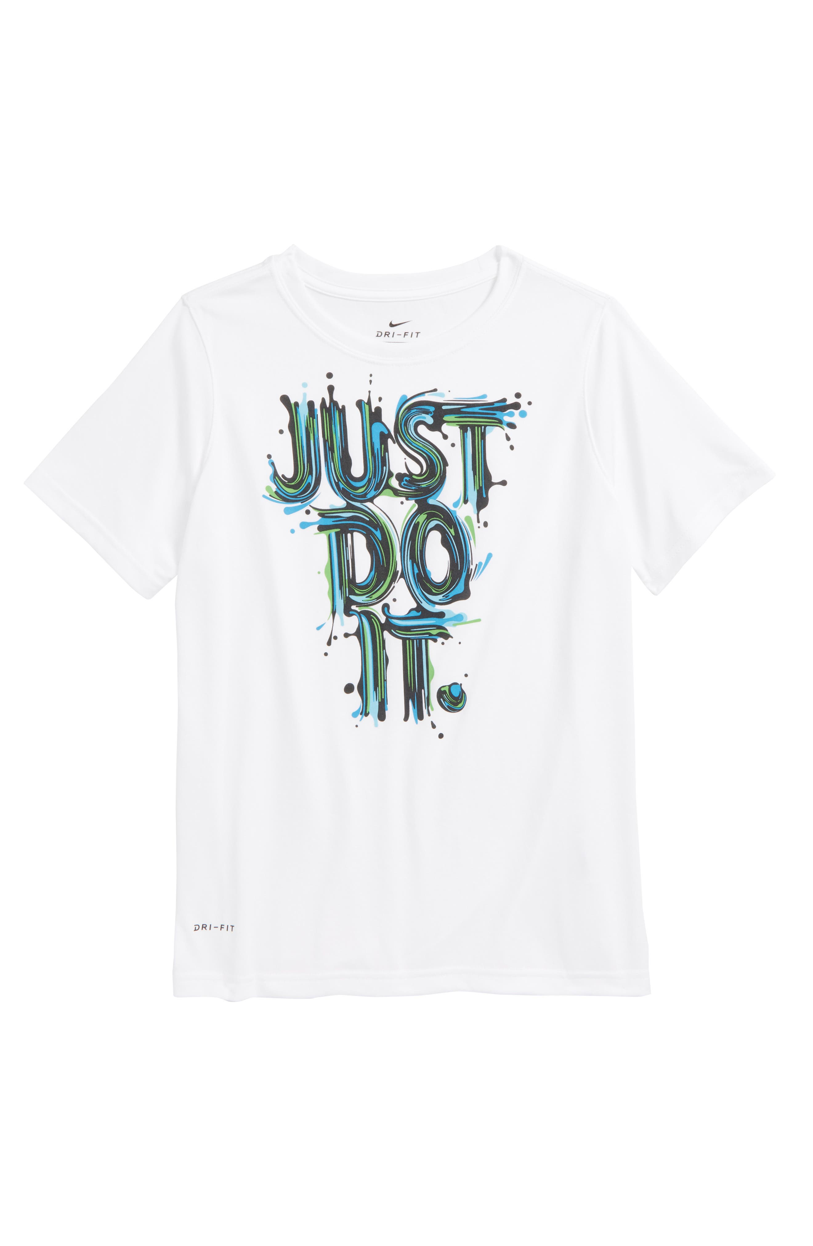 Dry Graphic T-Shirt,                         Main,                         color, White