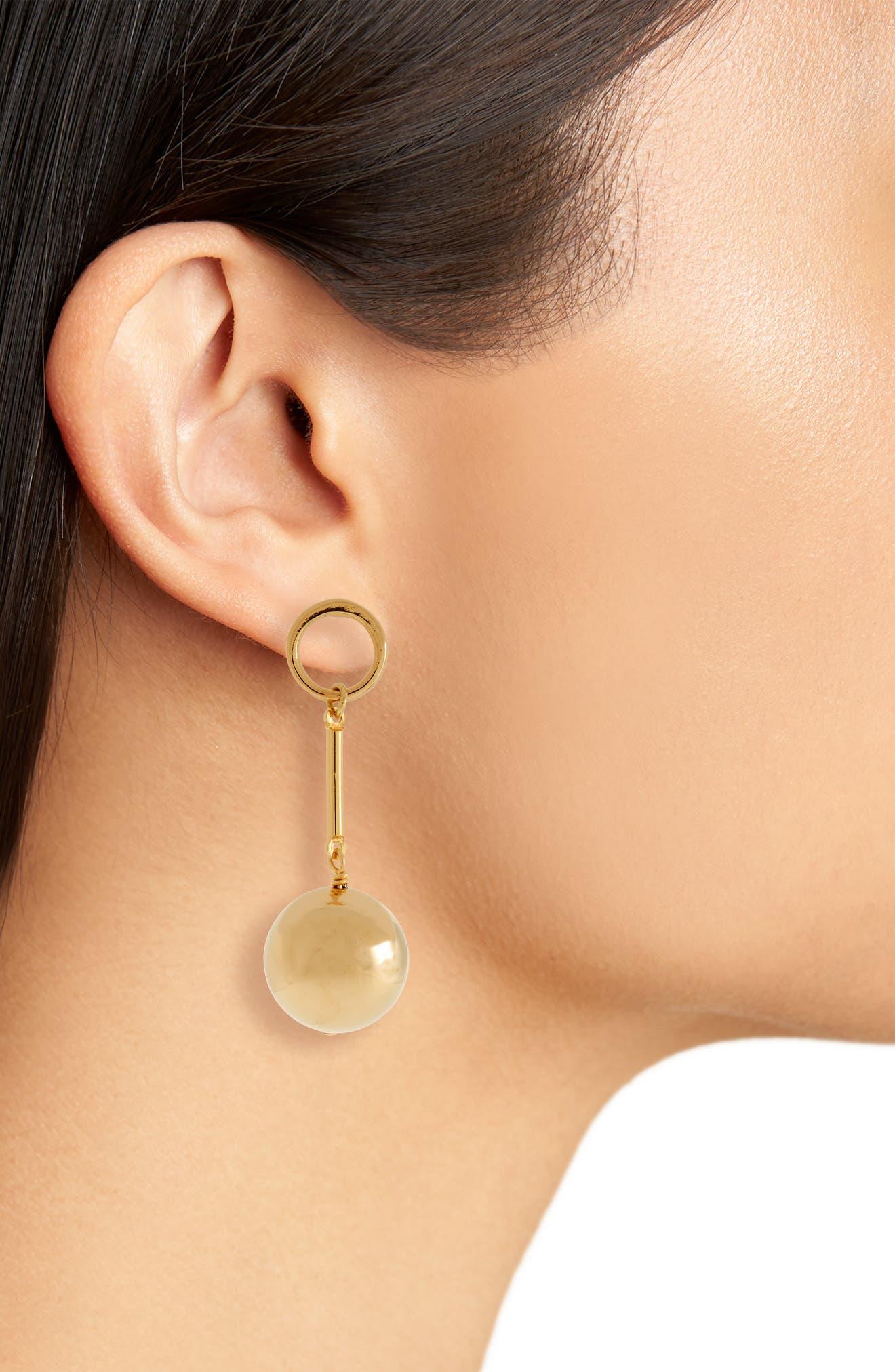 Tempo Drop Earrings,                             Alternate thumbnail 2, color,                             Gold