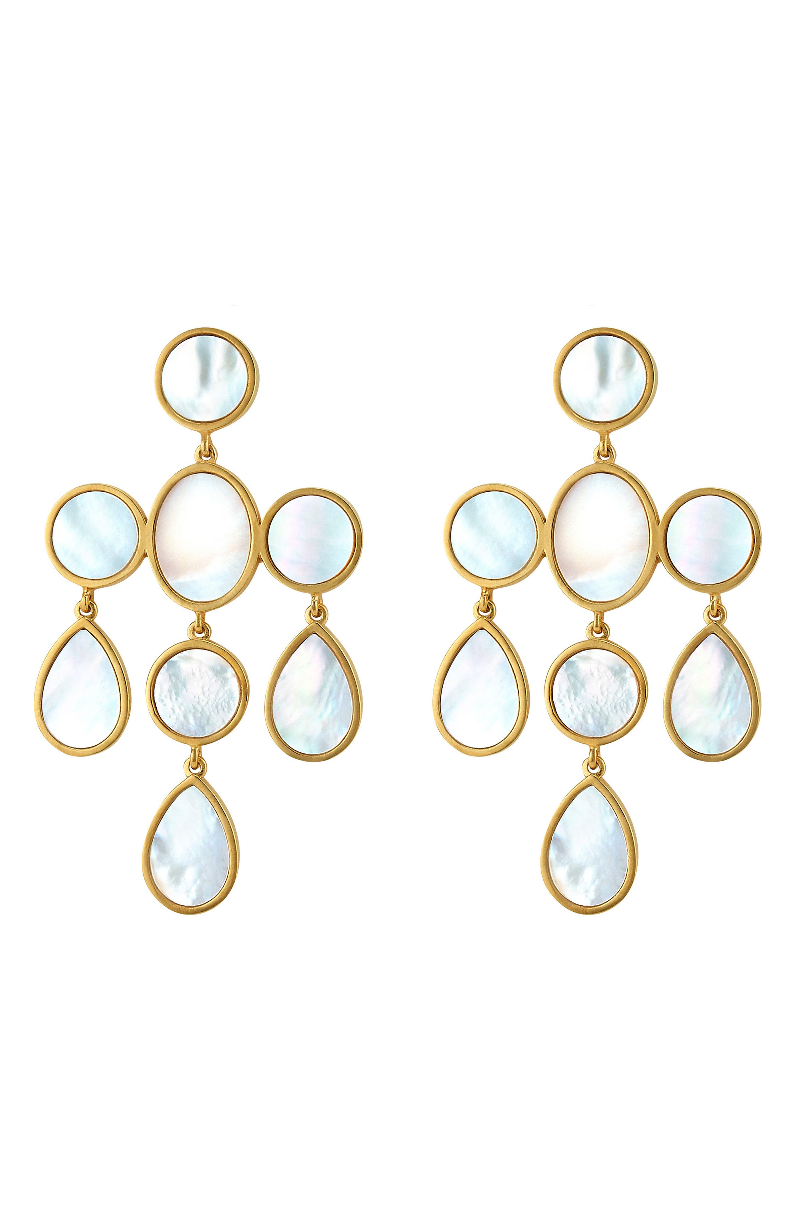 Sabina Chandelier Drop Earrings,                             Main thumbnail 1, color,                             Mother Of Pearl/ Gold