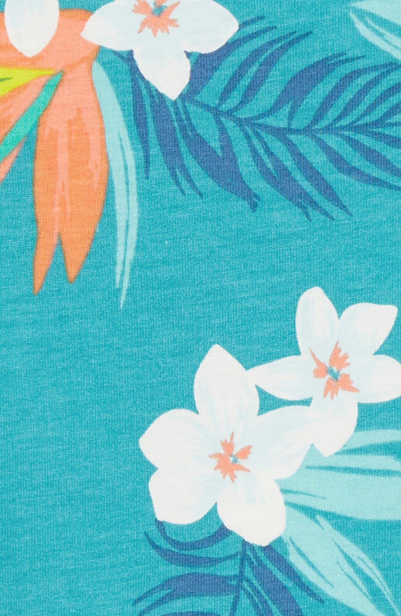 Print Tank Romper,                             Alternate thumbnail 2, color,                             Palm Florals