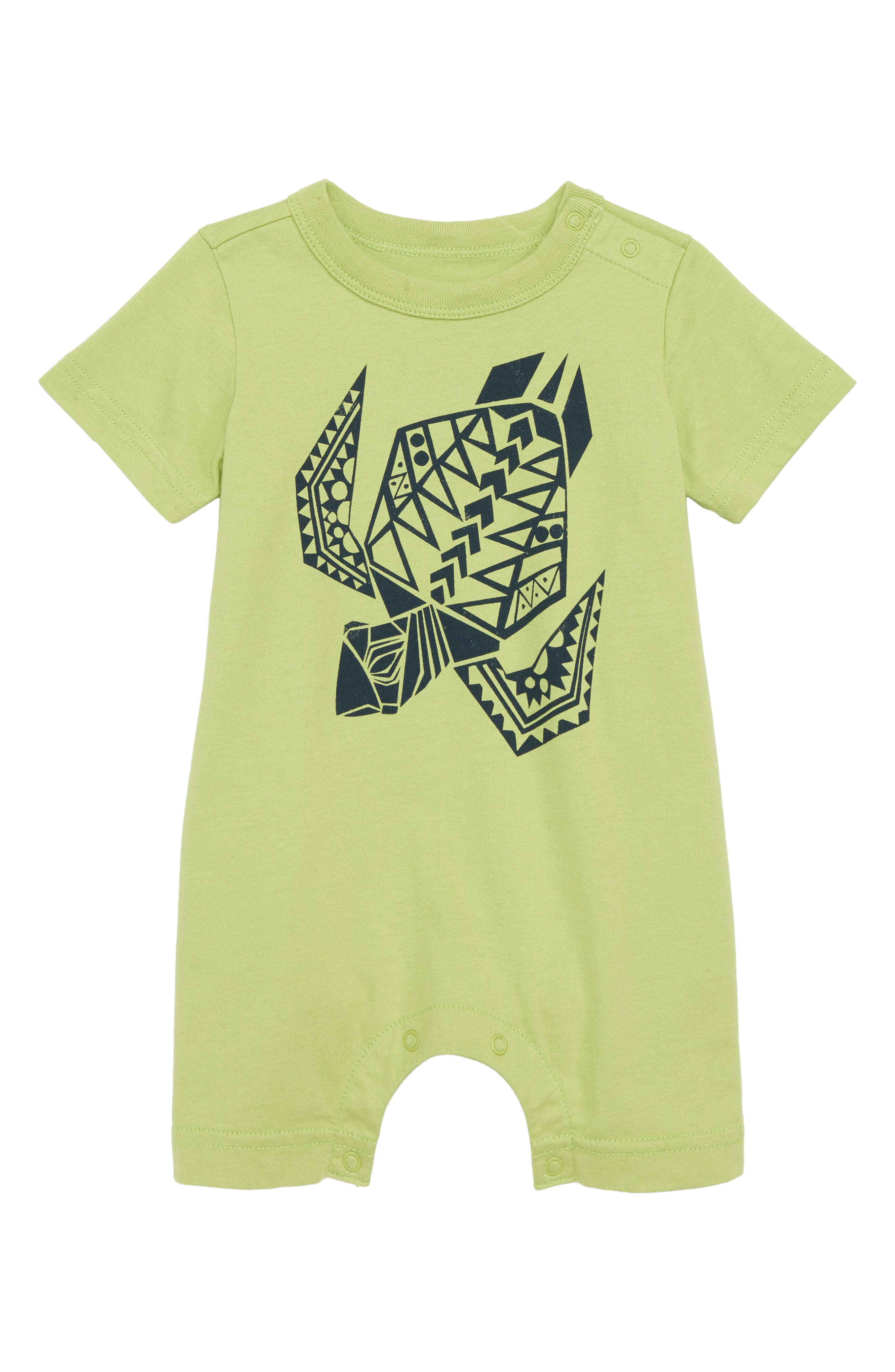 Tea Collection Sea Turtle Graphic Romper (Baby)