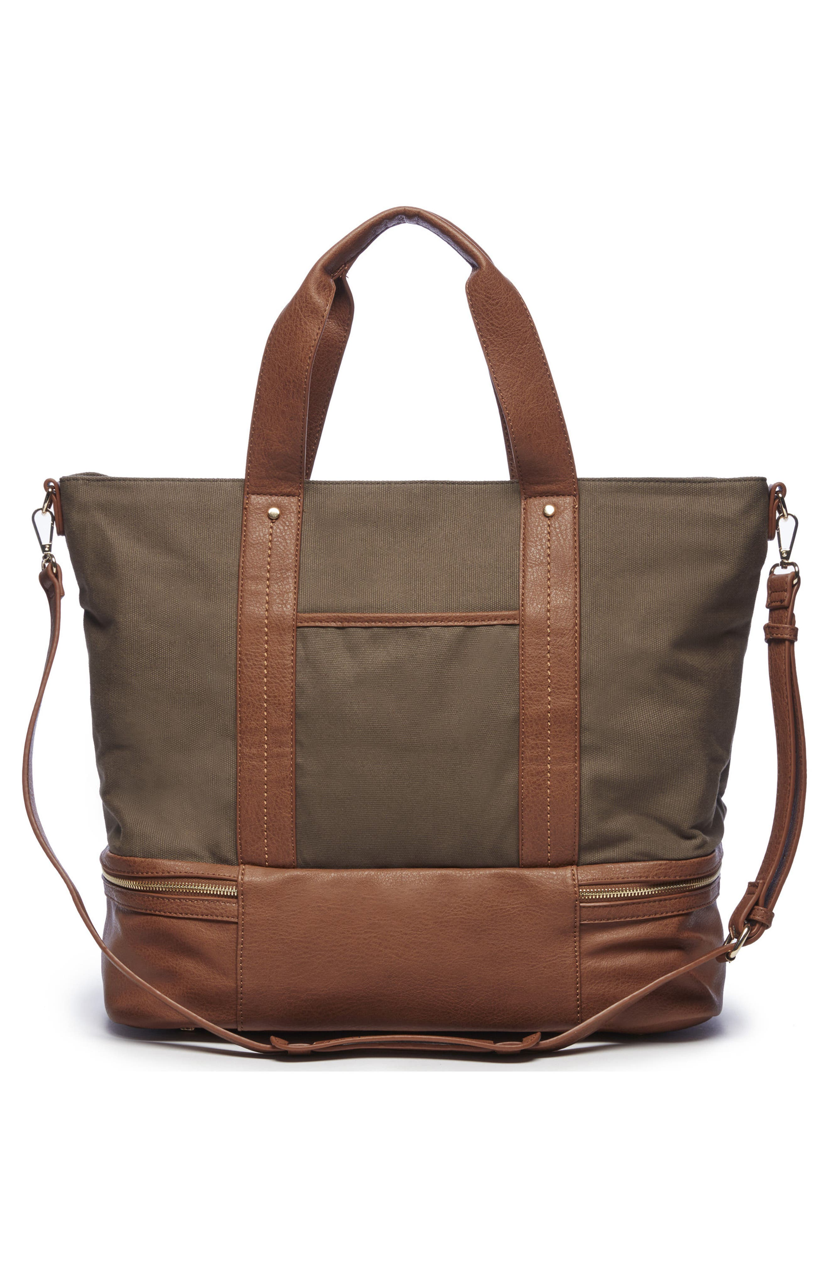 Sole Society Canvas Overnight Tote