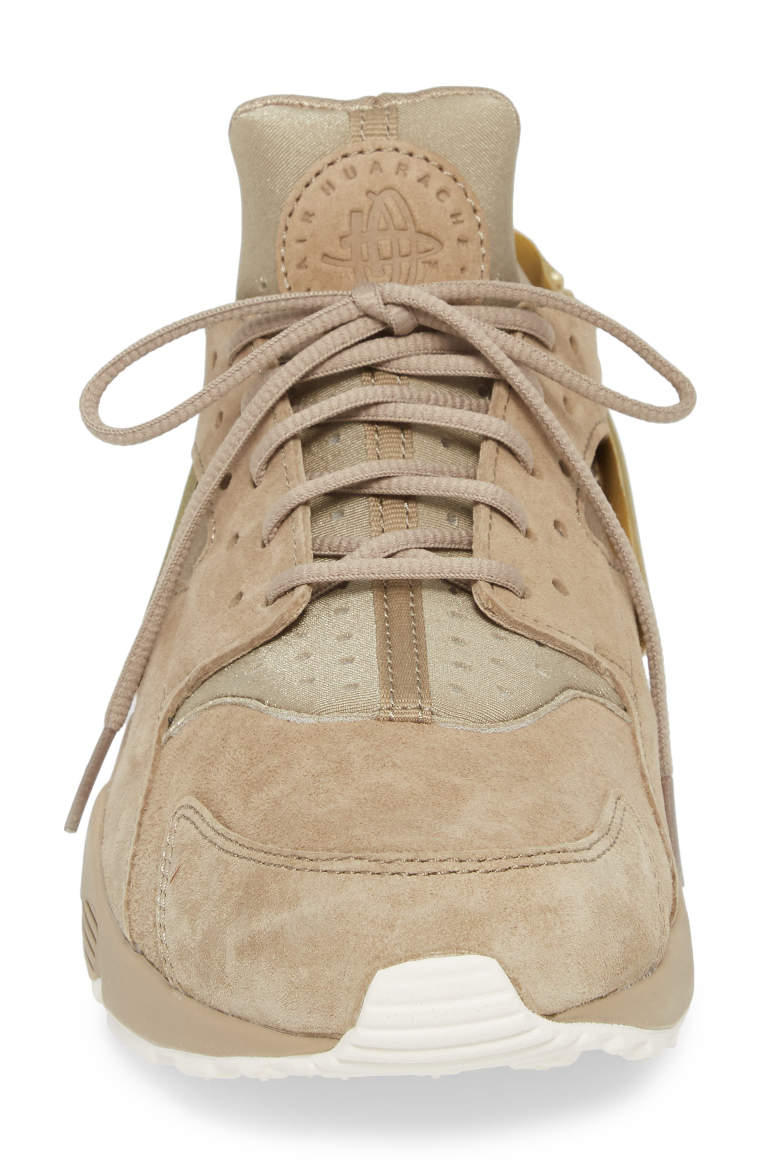 'Air Huarache Premiere' Sneaker,                             Alternate thumbnail 4, color,                             Khaki/ Gold/ Sail
