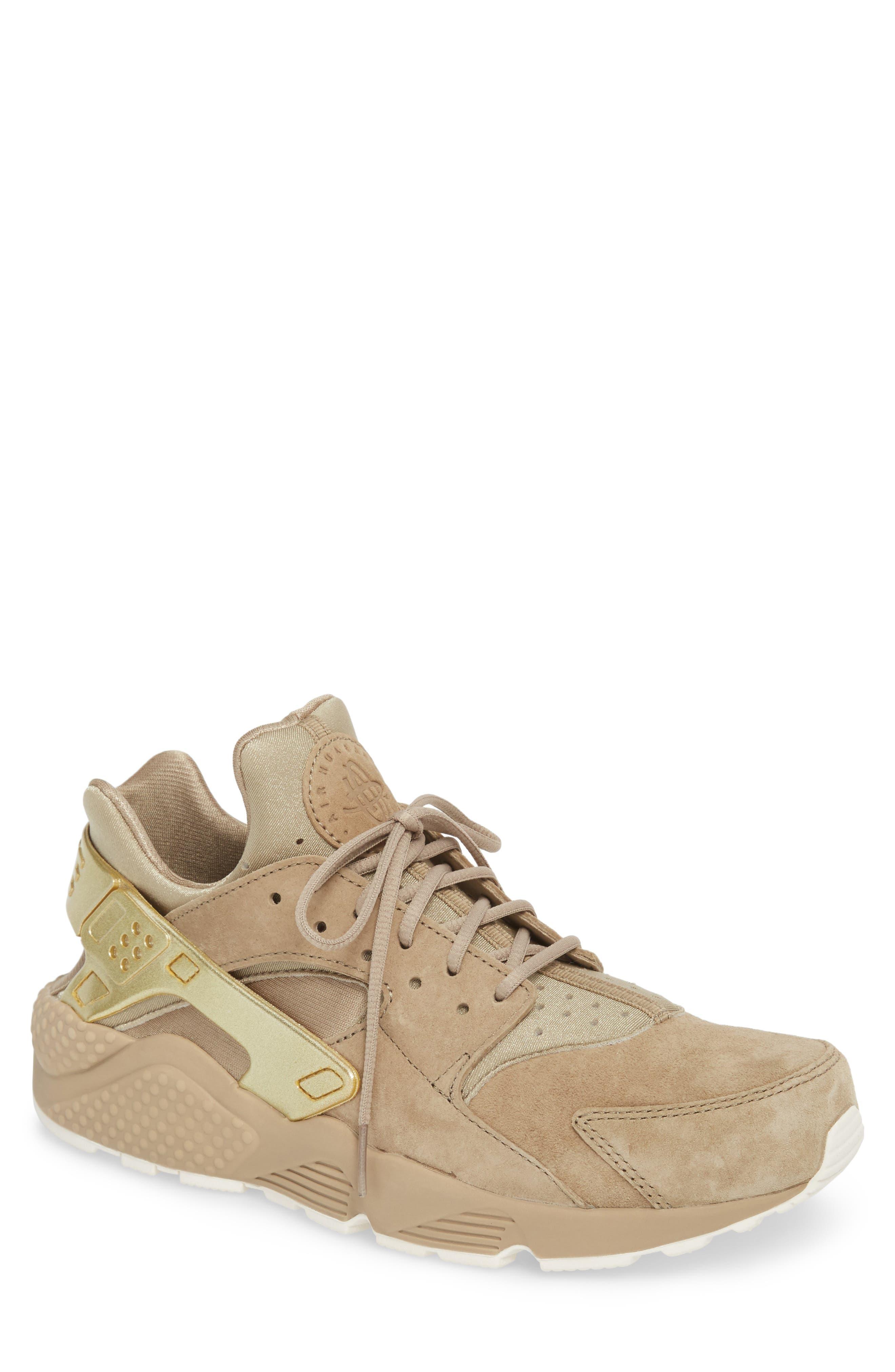 'Air Huarache Premiere' Sneaker,                             Main thumbnail 1, color,                             Khaki/ Gold/ Sail