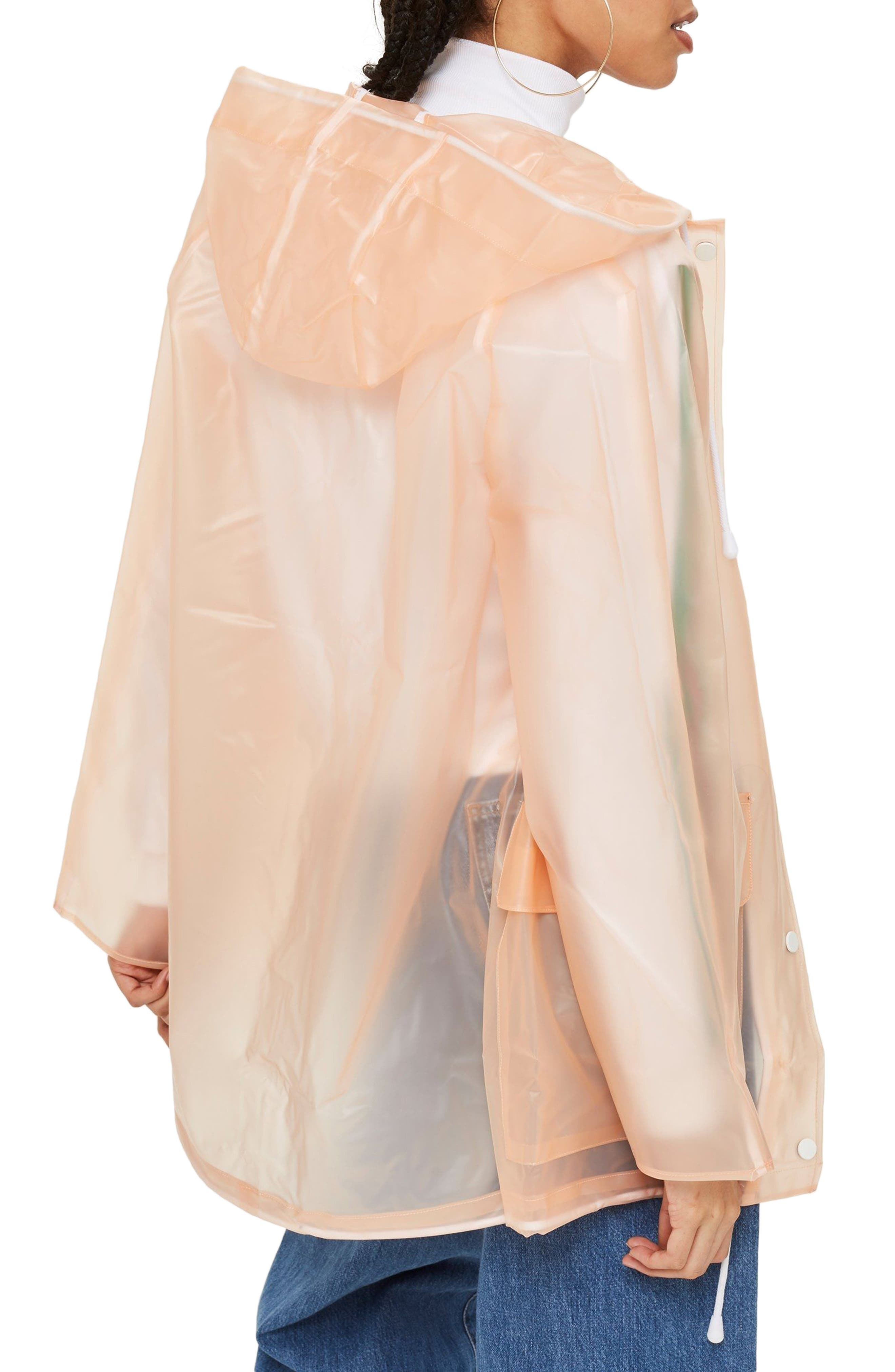 Frosted Marge Mac Rain Jacket,                             Alternate thumbnail 2, color,                             Peach Multi