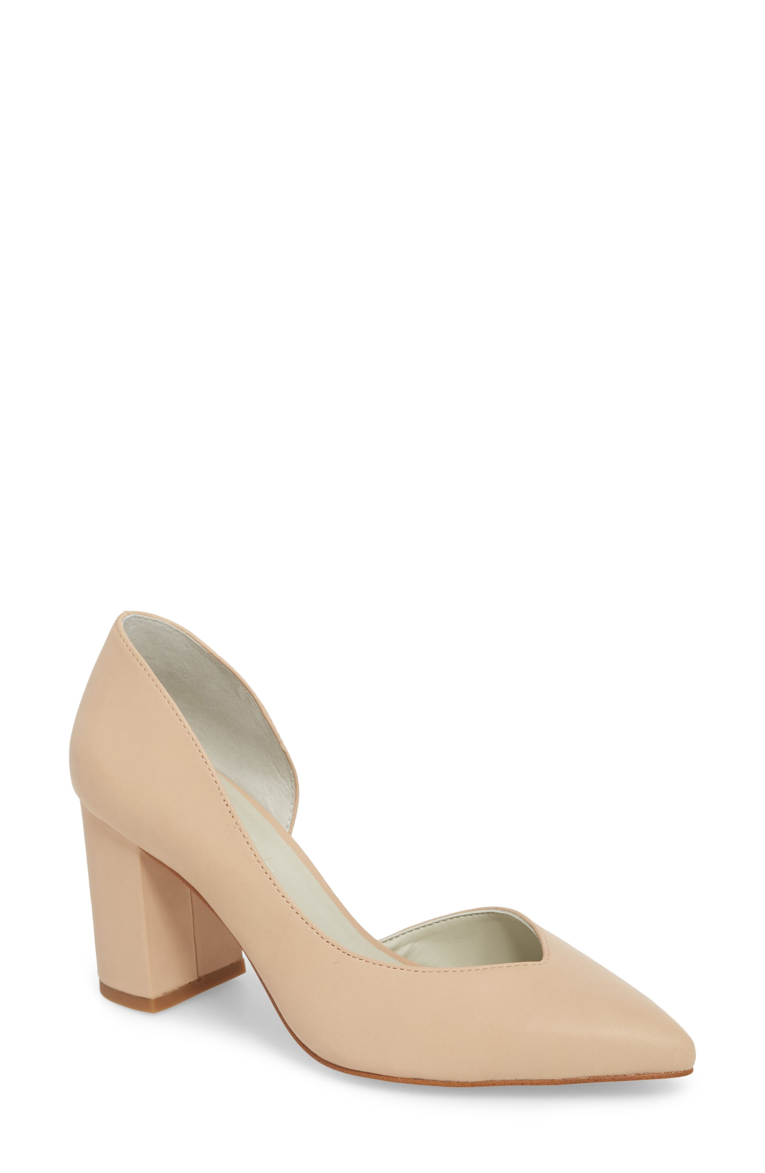 Almond patent 'Andersonn' mid block heel court shoes discount reliable discount get authentic cheap sale with mastercard how much cheap online new for sale KuxPGFG6mh