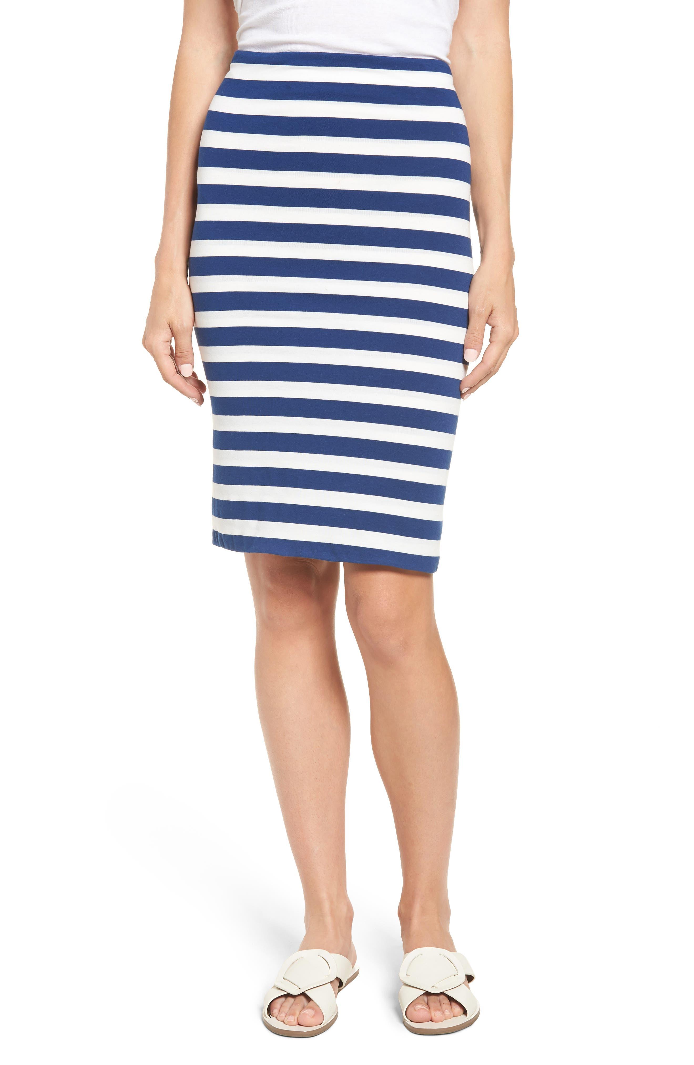 x Hi Sugarplum! Fornillo Pencil Skirt,                             Main thumbnail 1, color,                             Blue Stripe