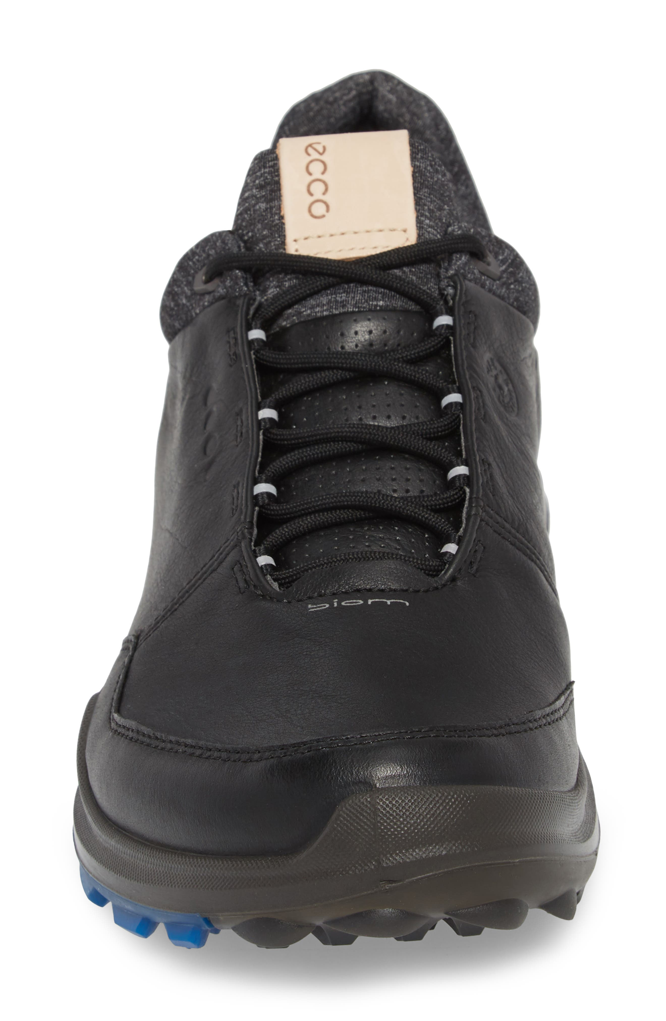 BIOM Hybrid 3 Gore-Tex<sup>®</sup> Golf Shoe,                             Alternate thumbnail 4, color,                             Black/ Bermuda Blue Leather