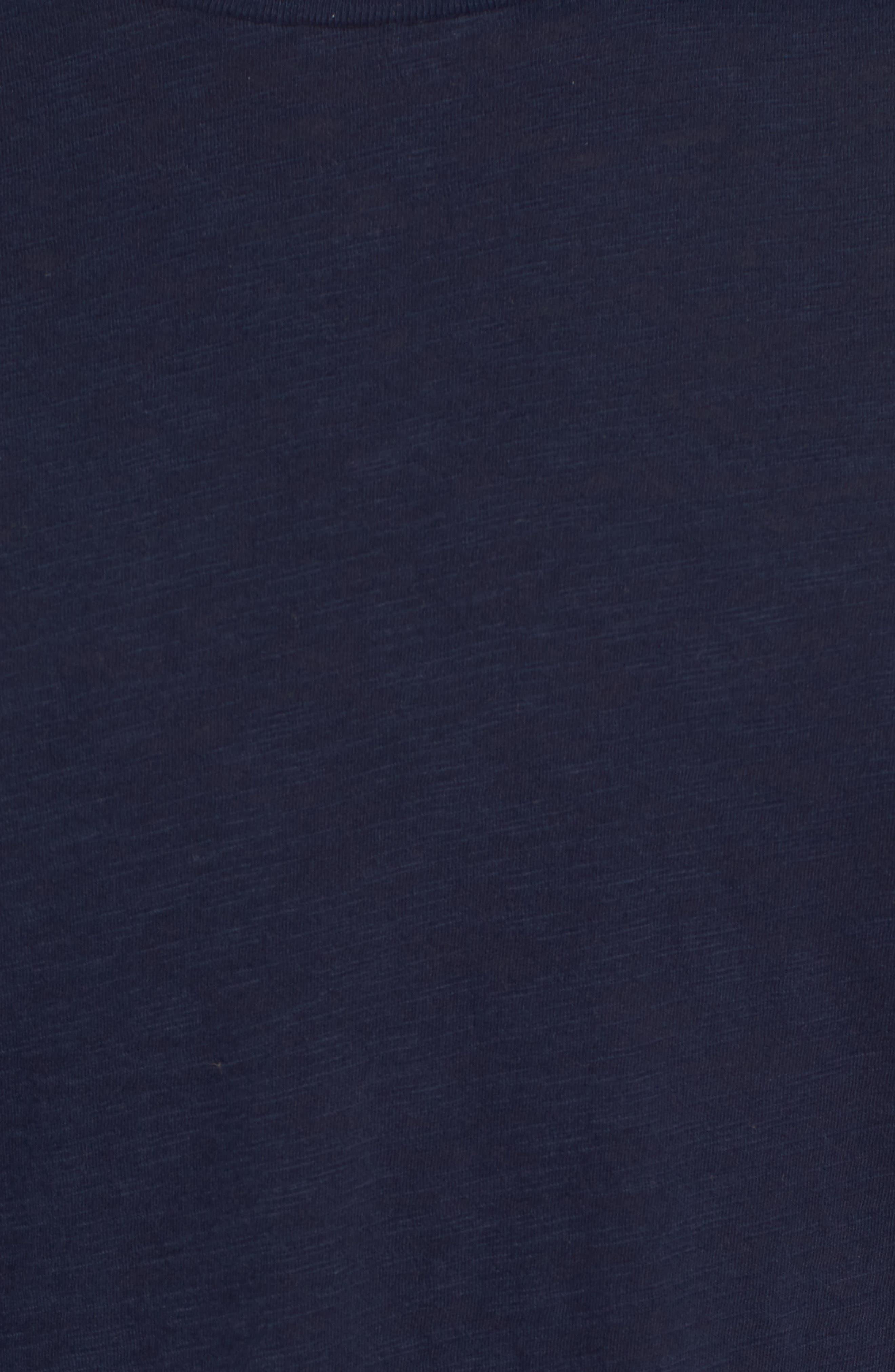 Raglan T-Shirt,                             Alternate thumbnail 5, color,                             Indigo Stripe Shibori Indigo