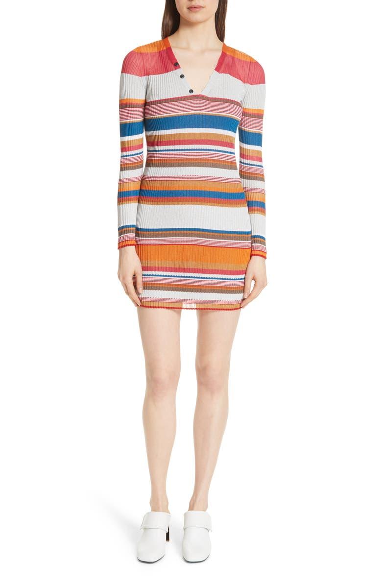 Katie Metallic Stripe Dress