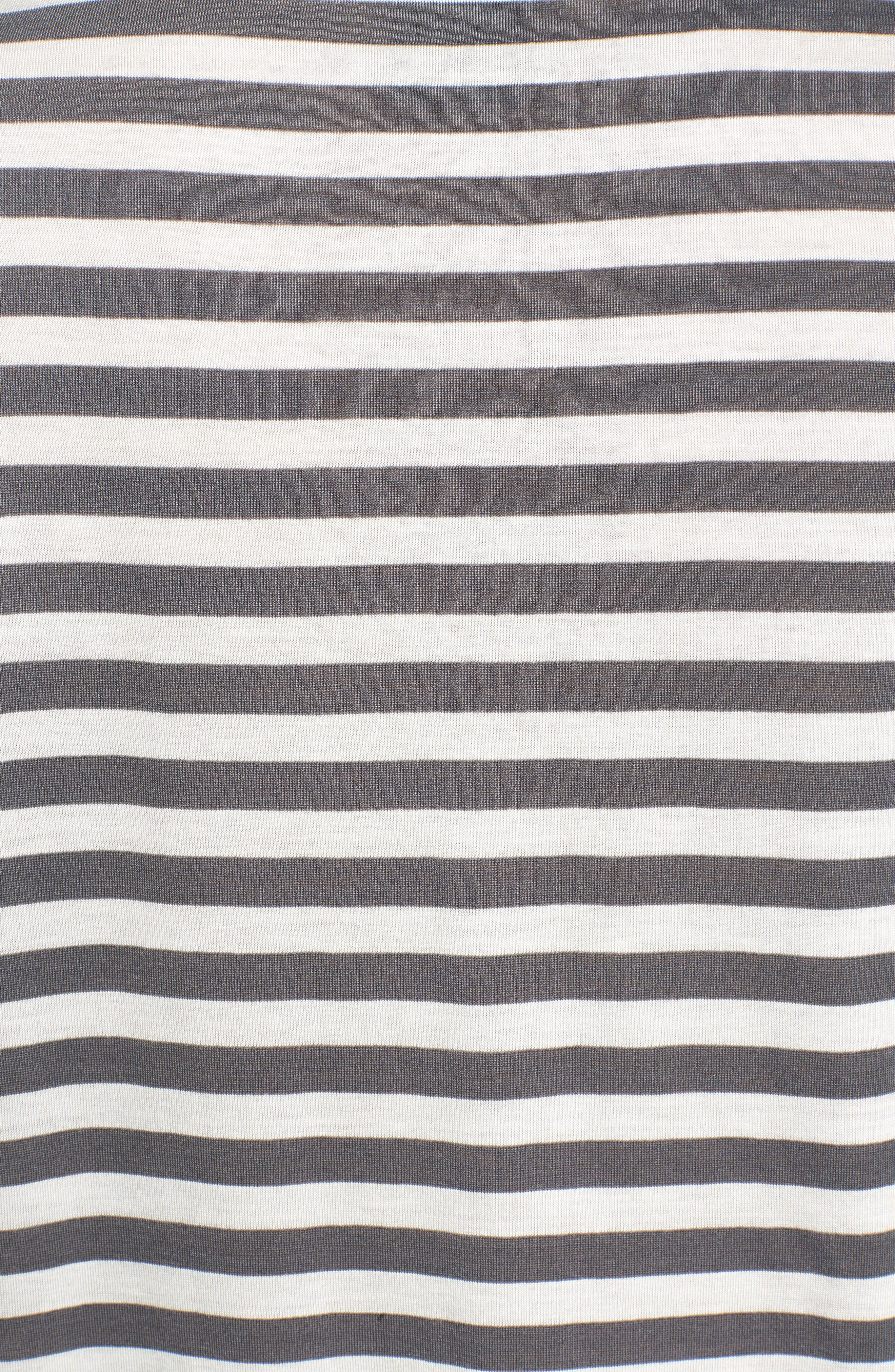 Rolling Stones Stripe Boyfriend Tee,                             Alternate thumbnail 3, color,                             White Stripe