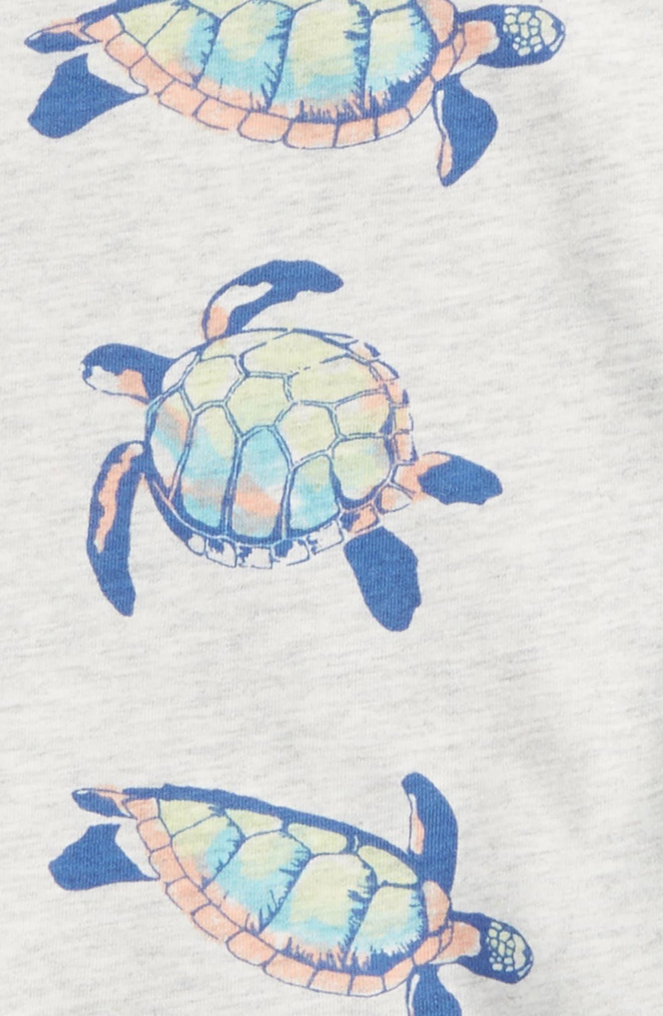 Tie Shoulder Dress,                             Alternate thumbnail 2, color,                             Hawaiian Sea Turtles