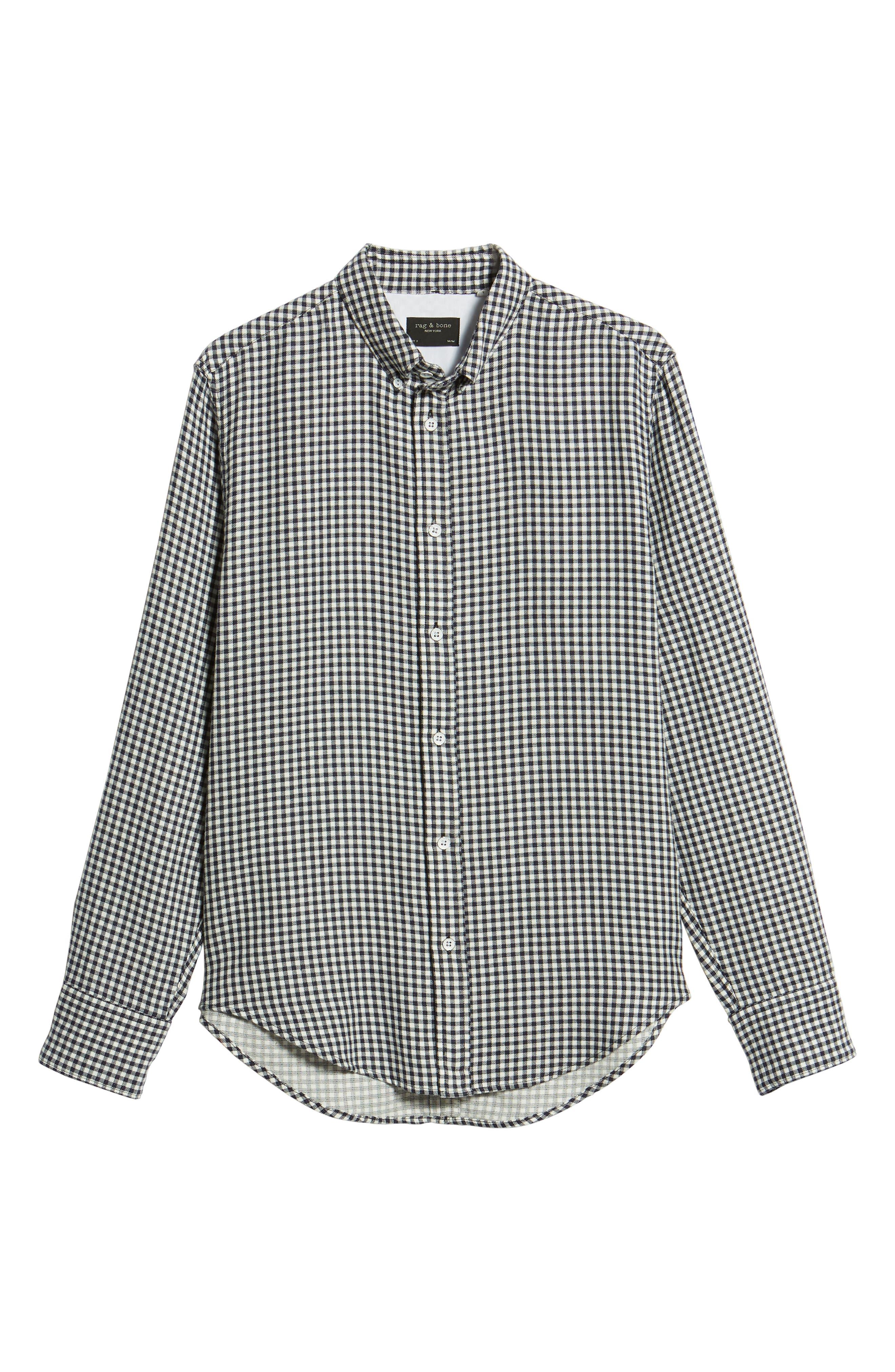 Fit 2 Tomlin Check Sport Shirt,                             Alternate thumbnail 6, color,                             Navy Gingham