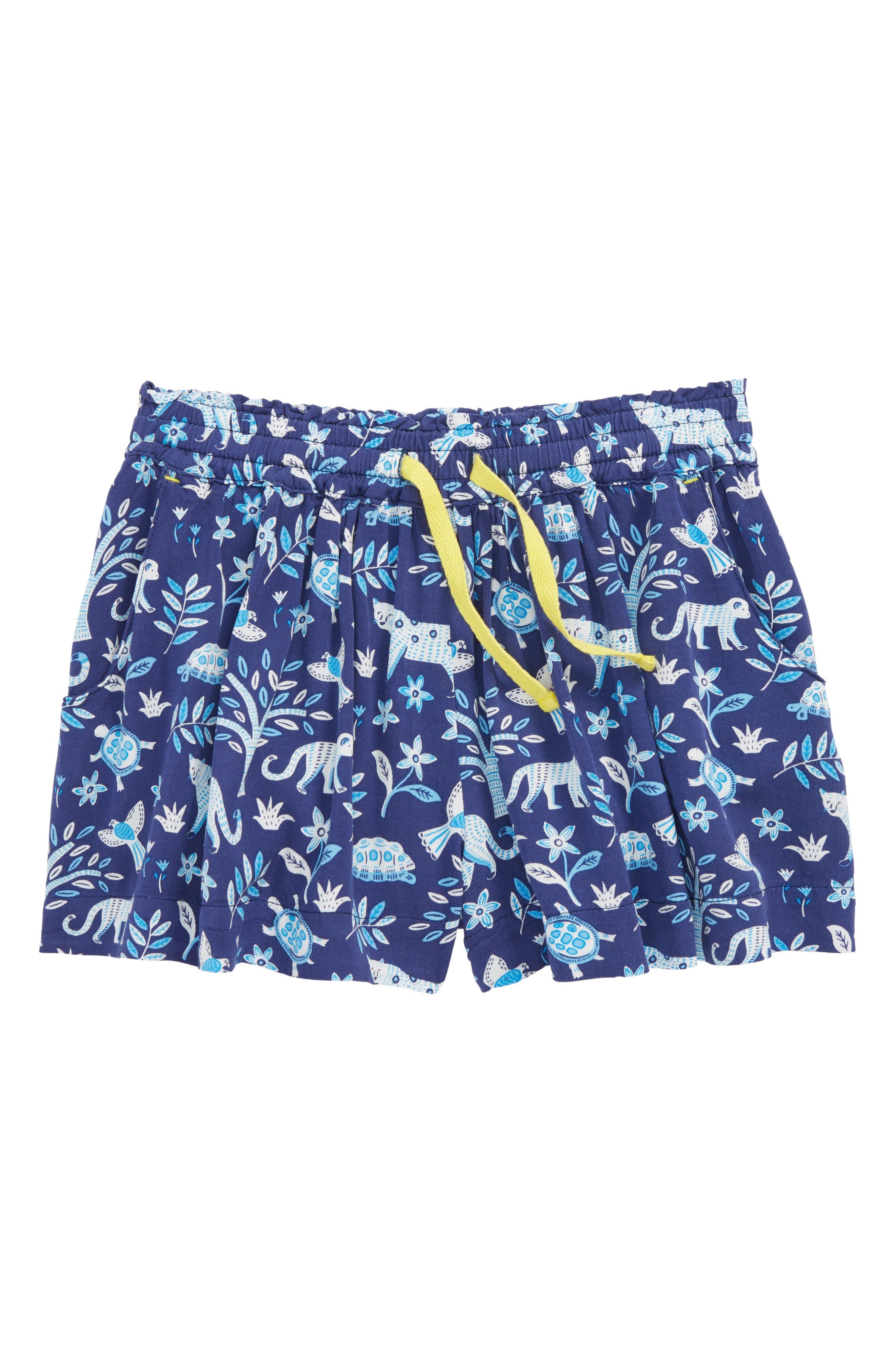 Pretty Woven Shorts,                             Main thumbnail 1, color,                             Starboard Blue Islan