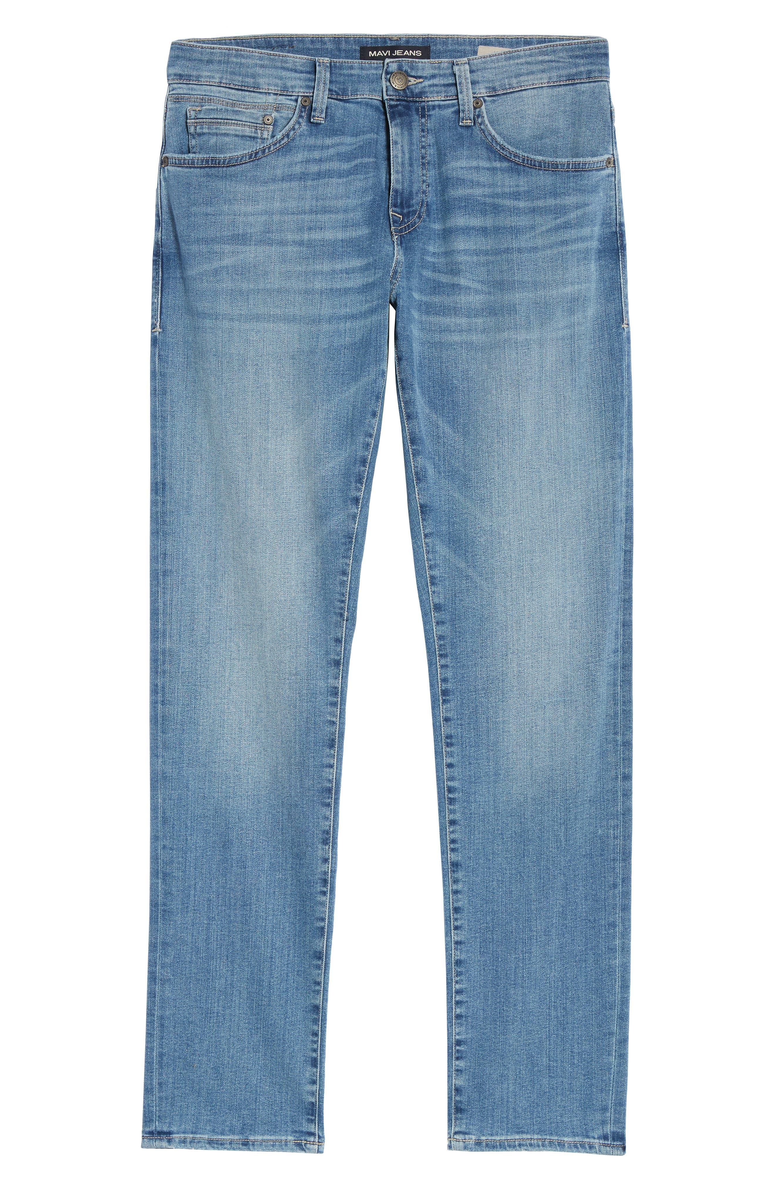 Jake Slim Fit Jeans,                             Alternate thumbnail 6, color,                             Light Blue Willamsburg